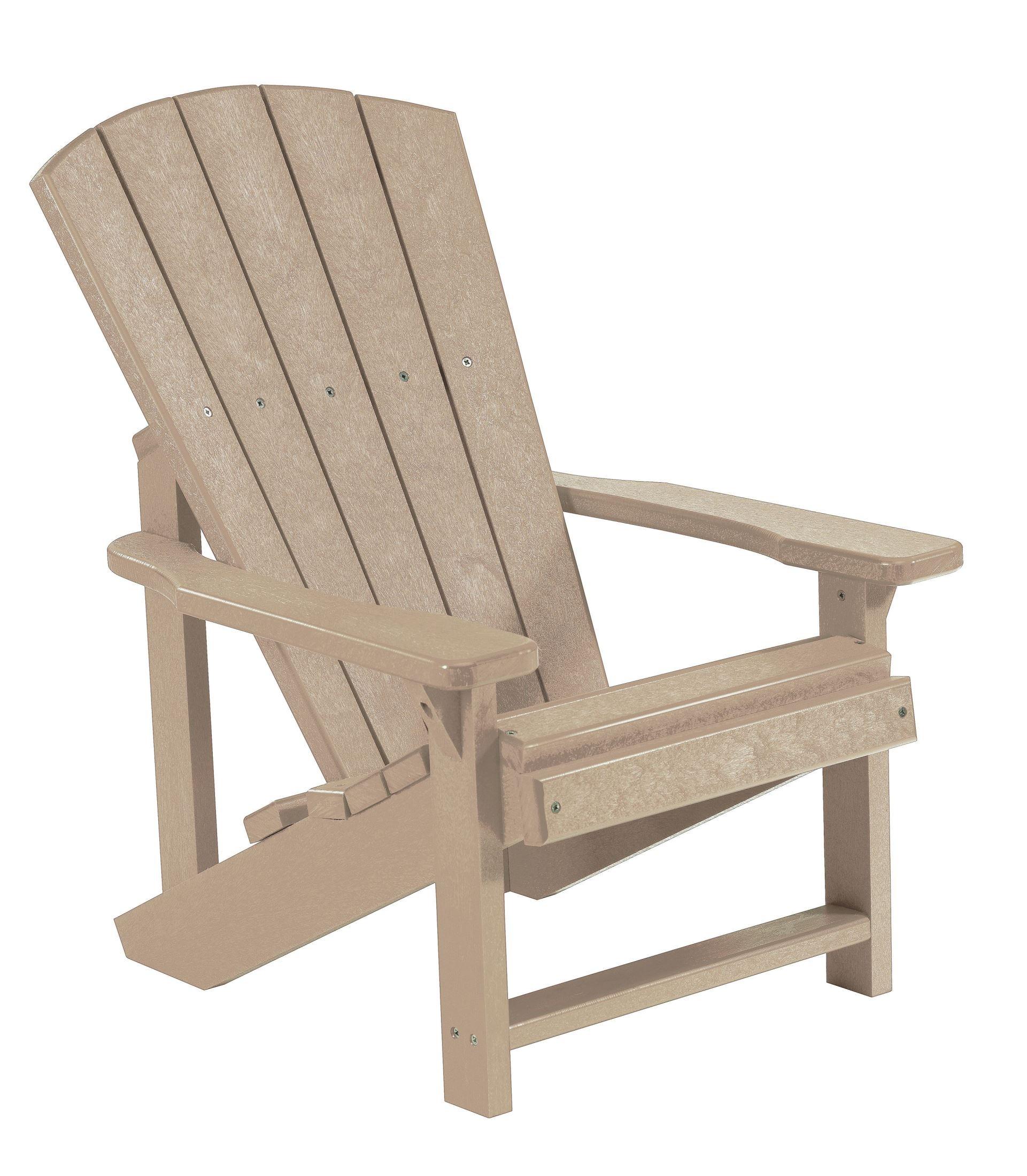 Generations Beige Kids Adirondack Chair From Cr Plastic