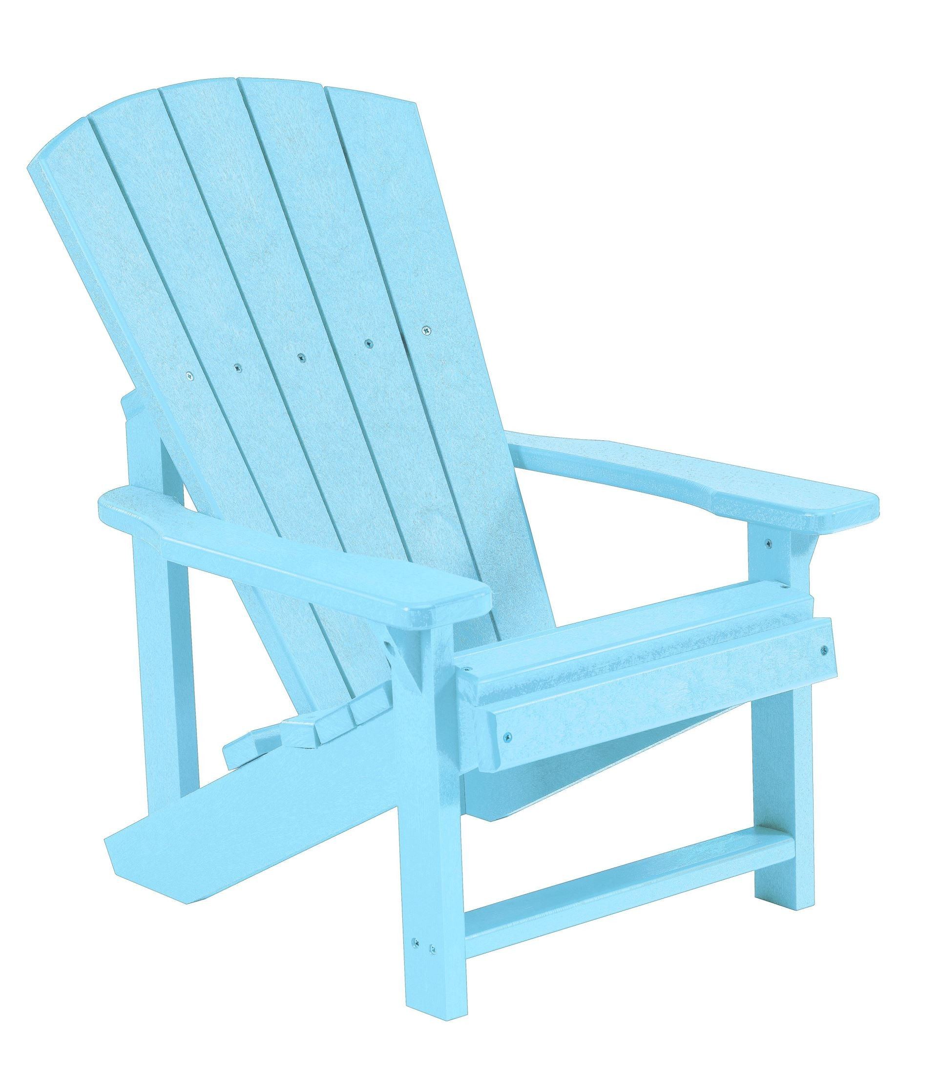 Generations Aqua Kids Adirondack Chair From Cr Plastic