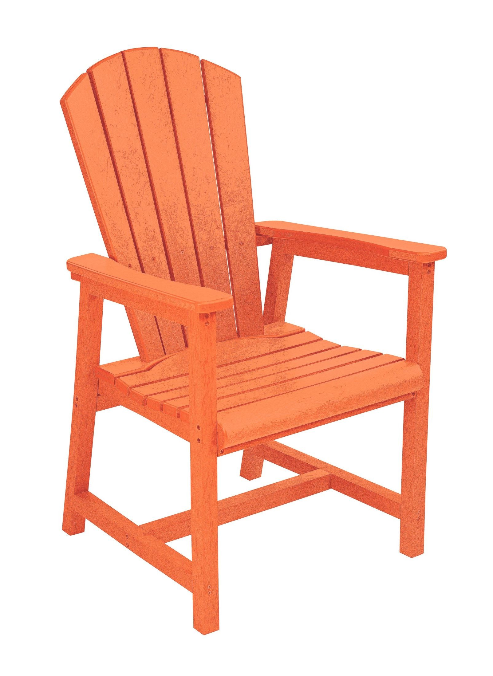 Generations Orange Adirondack Dining Arm Chair From Cr