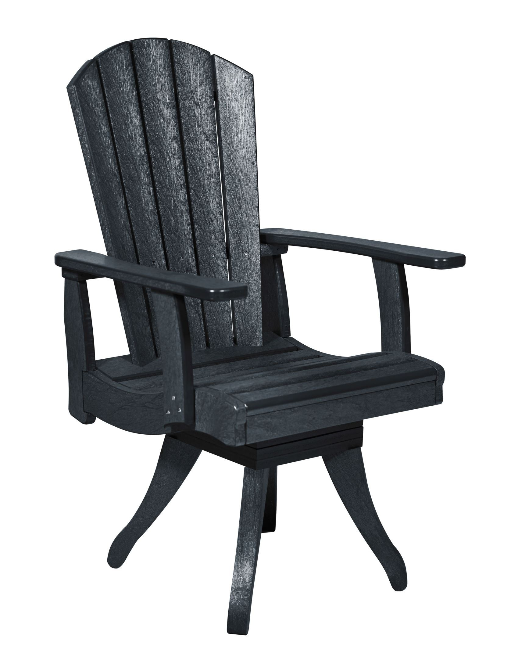 Generations Black Swivel Dining Arm Chair from CR Plastic