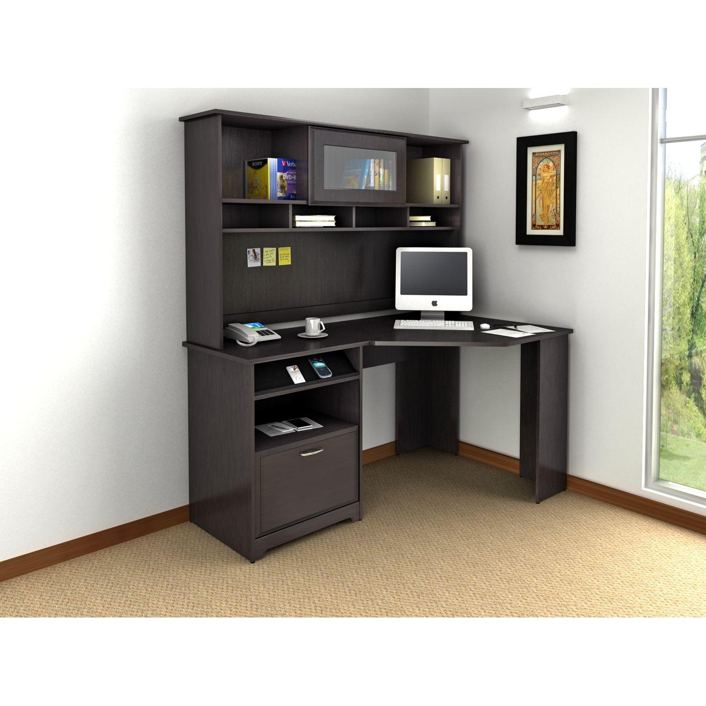 Cabot Espresso Oak Corner Home Office Set From Bush