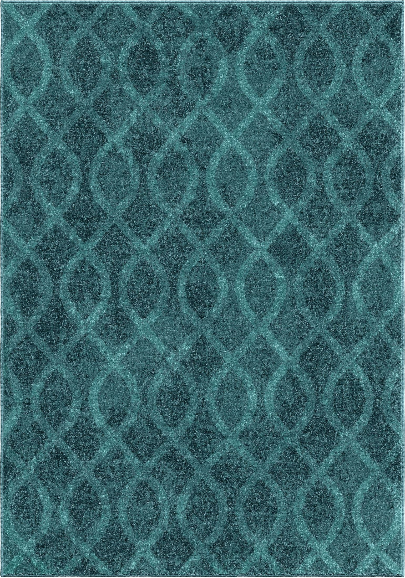 Geo Loop Aqua Large Rug From Orian 3012 7x10 Coleman
