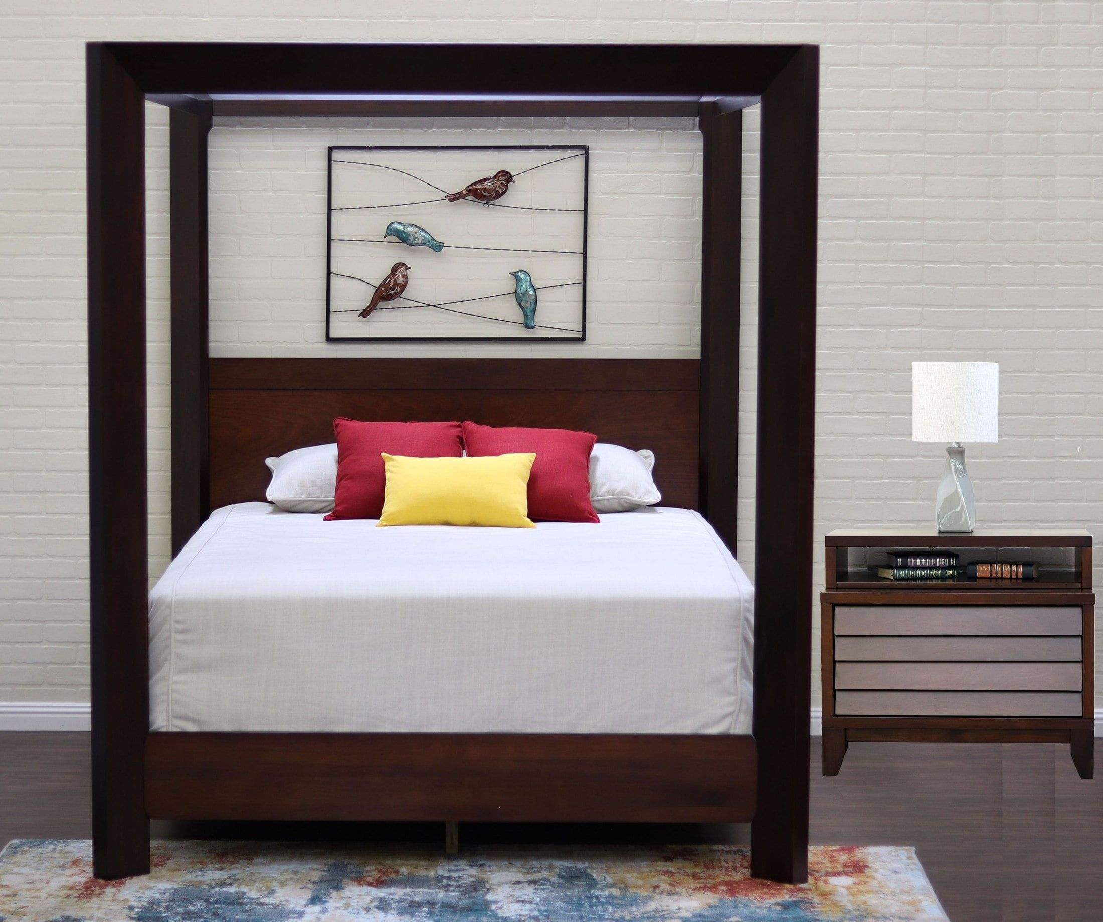 Island Mocca Chamfer Canopy Bedroom Set From Ligna Furniture   Coleman  Furniture