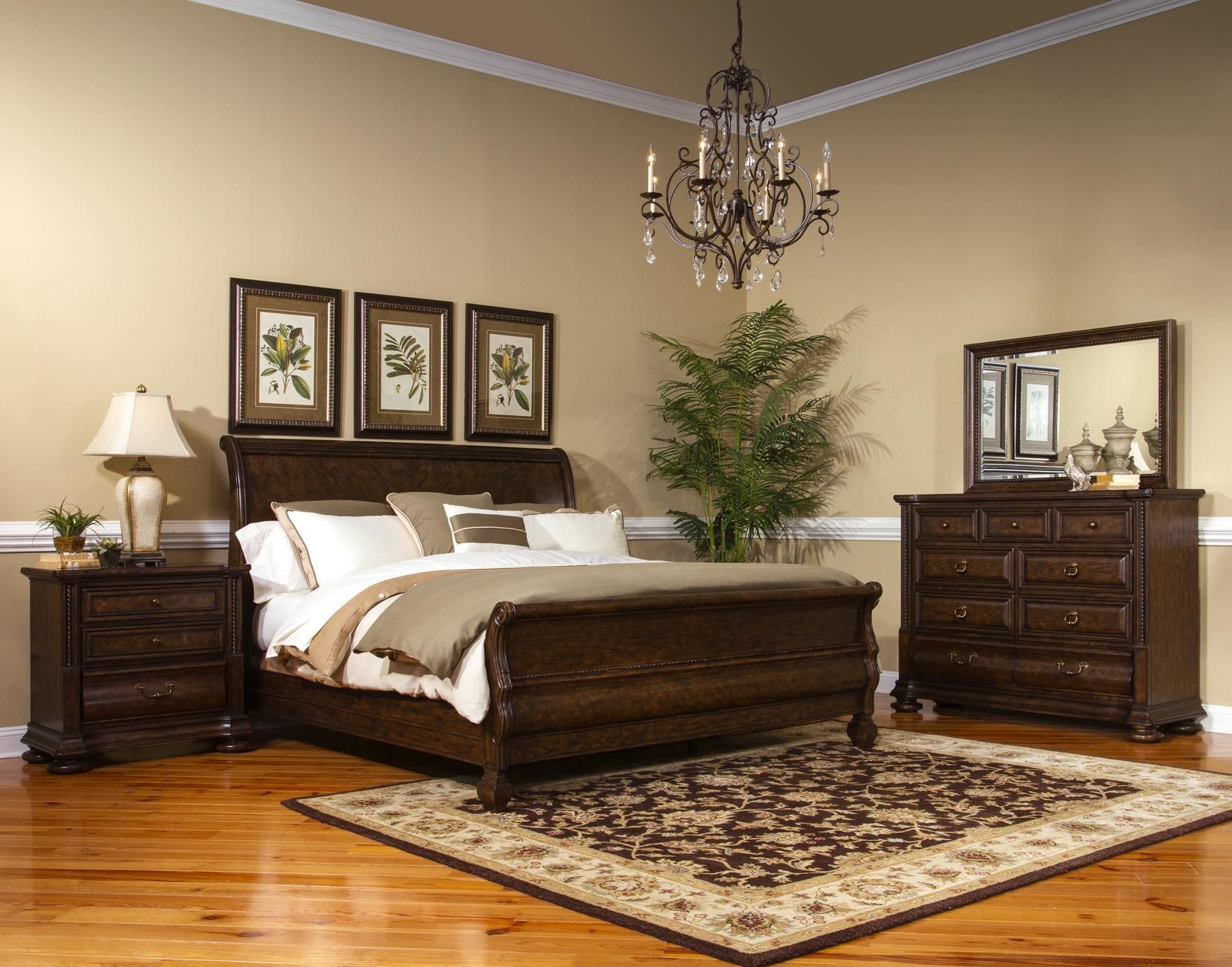 Canyon Creek Vintage Oak Sleigh Bedroom Set from Fairmont ...