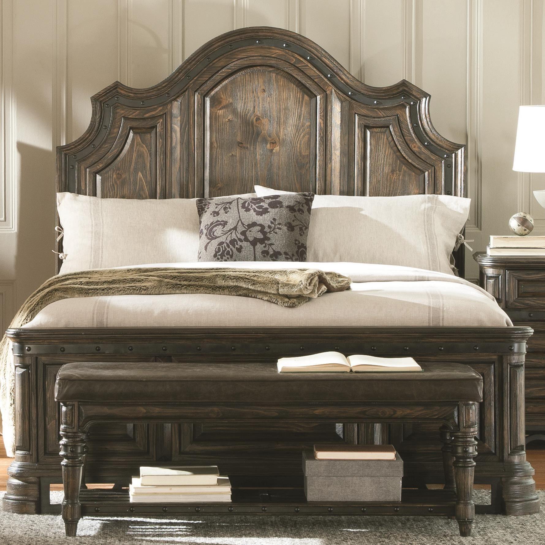 Carlsbad Dark Brown King Panel Bed From Coaster 204041ke