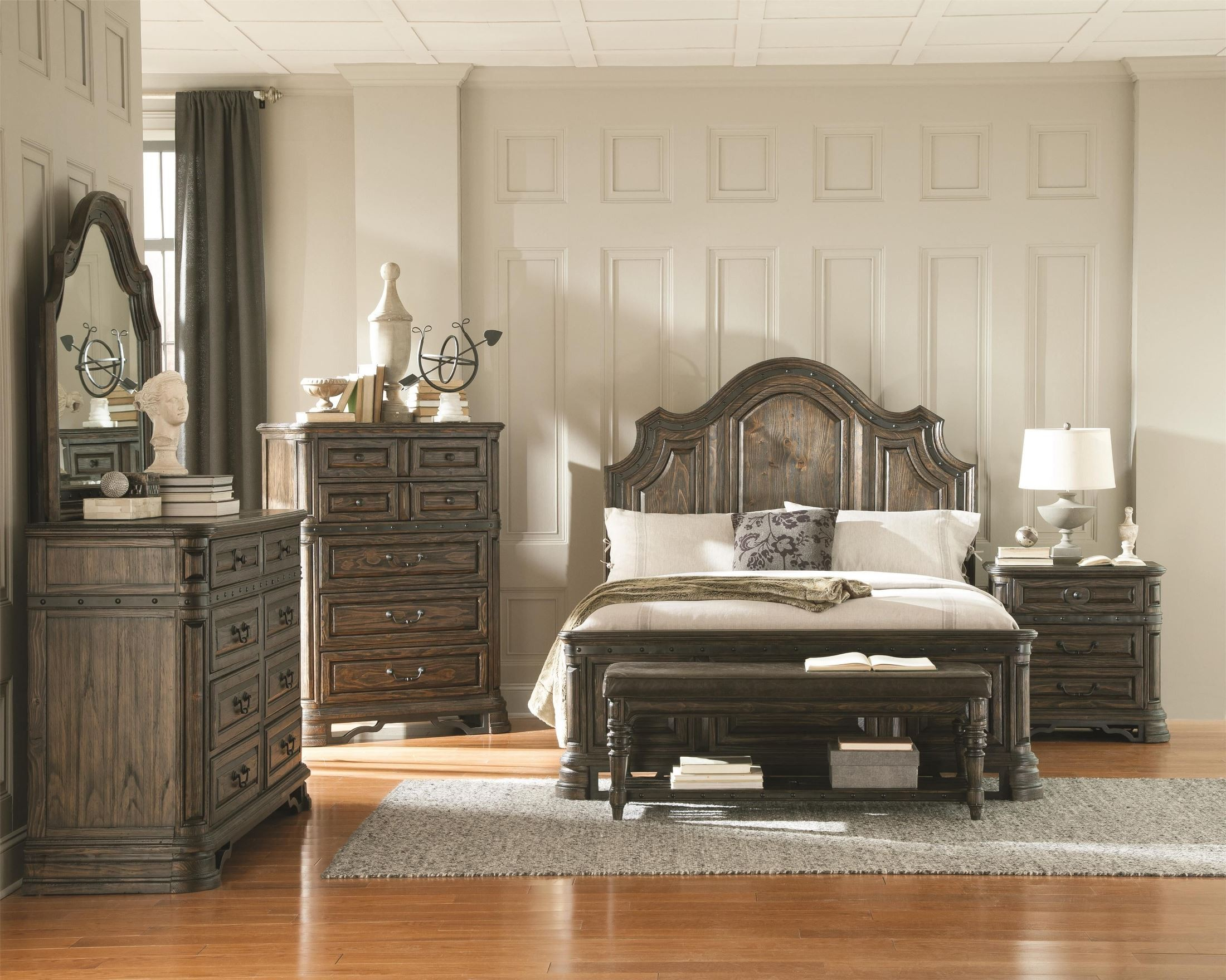 Carlsbad Dark Brown Panel Bedroom Set from Coaster (204041Q ...