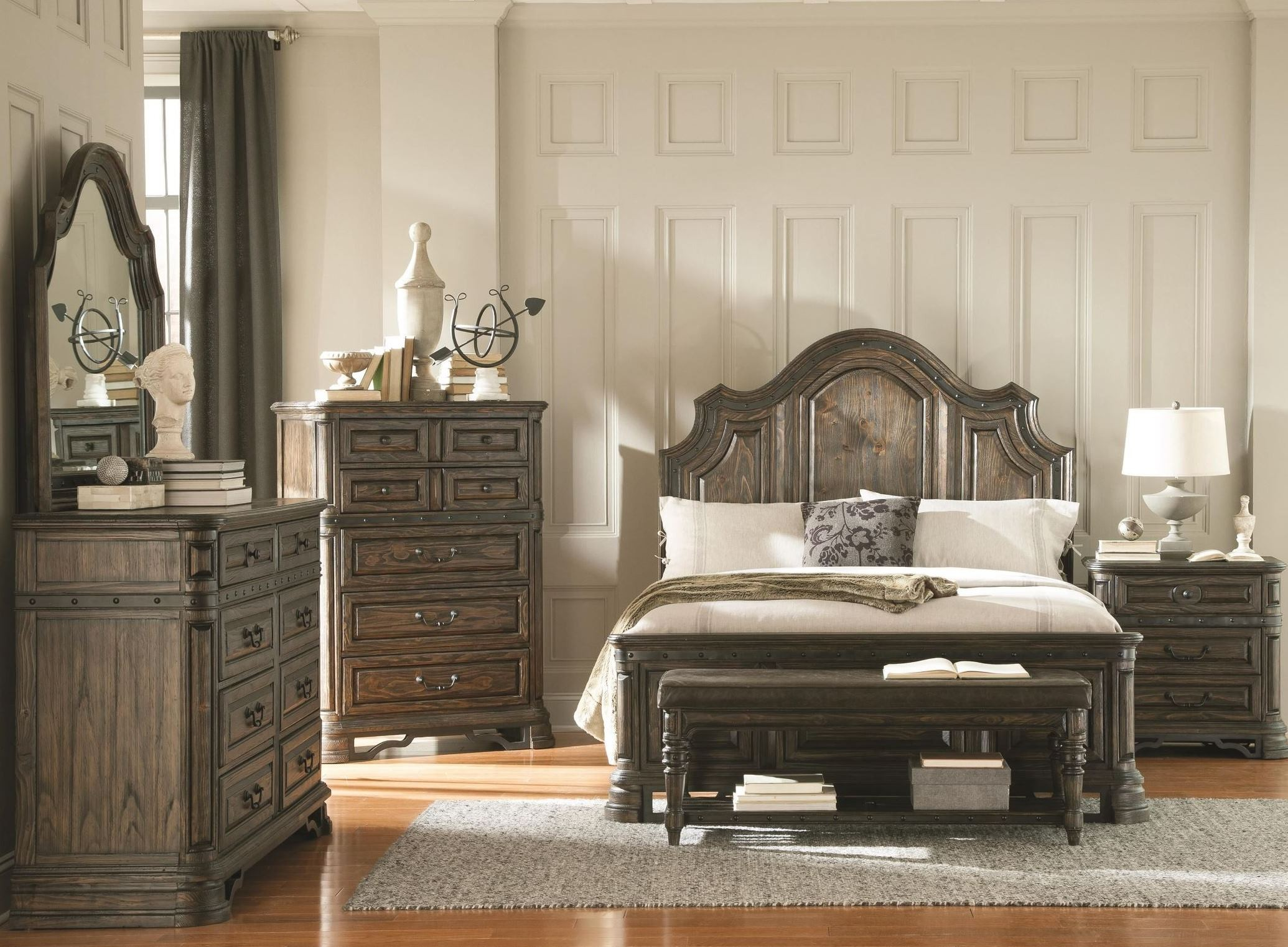 Carlsbad Dark Brown Panel Bedroom Set From Coaster
