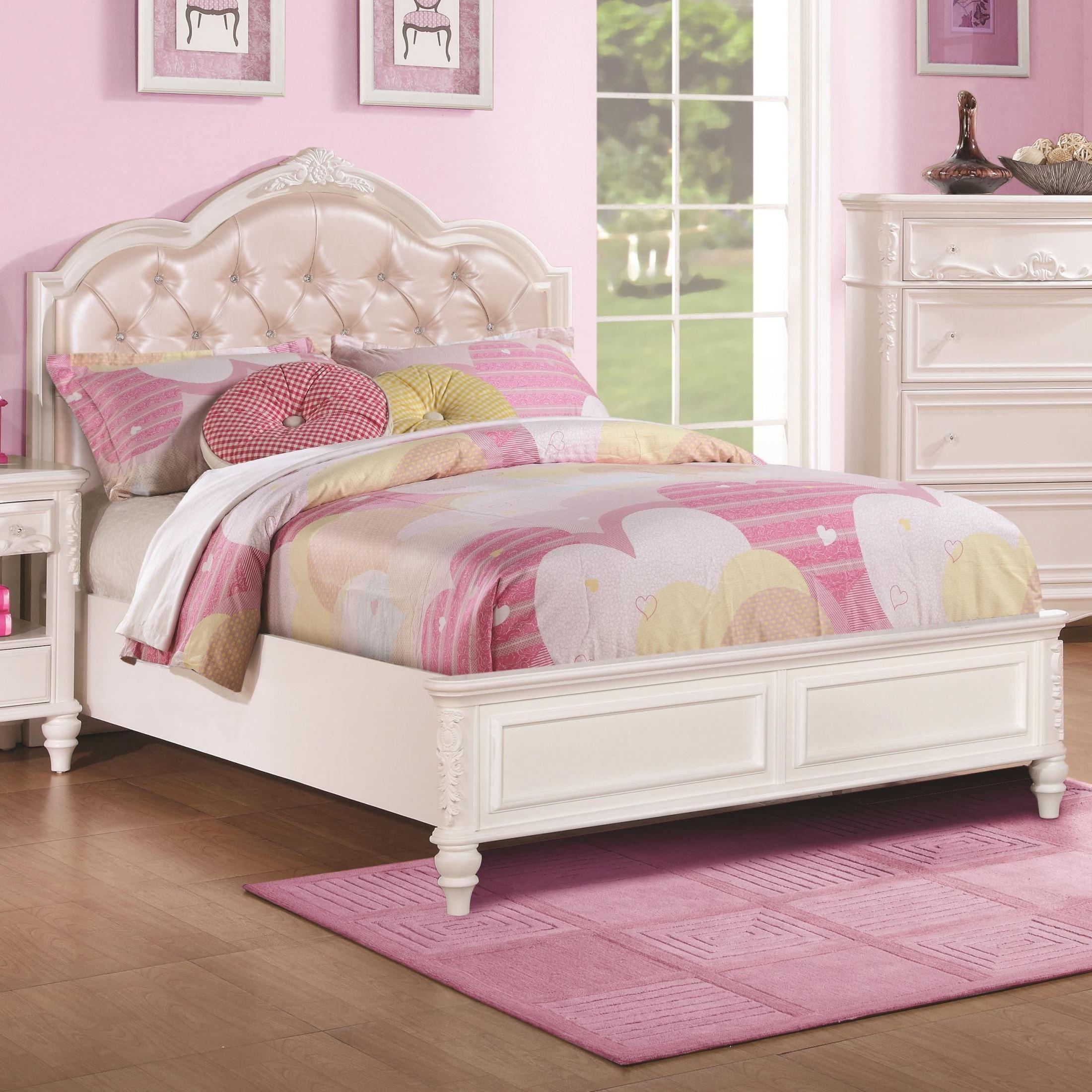 Caroline Diamond Tufted Twin Platform Bed From Coaster