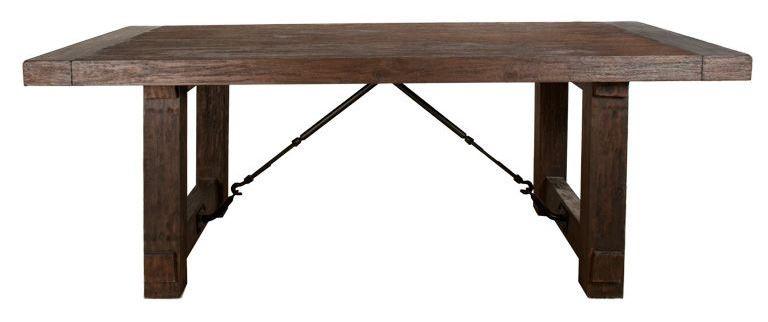 carter rustic java rectangular extendable trestle dining table from orient express 6090 rjav. Black Bedroom Furniture Sets. Home Design Ideas