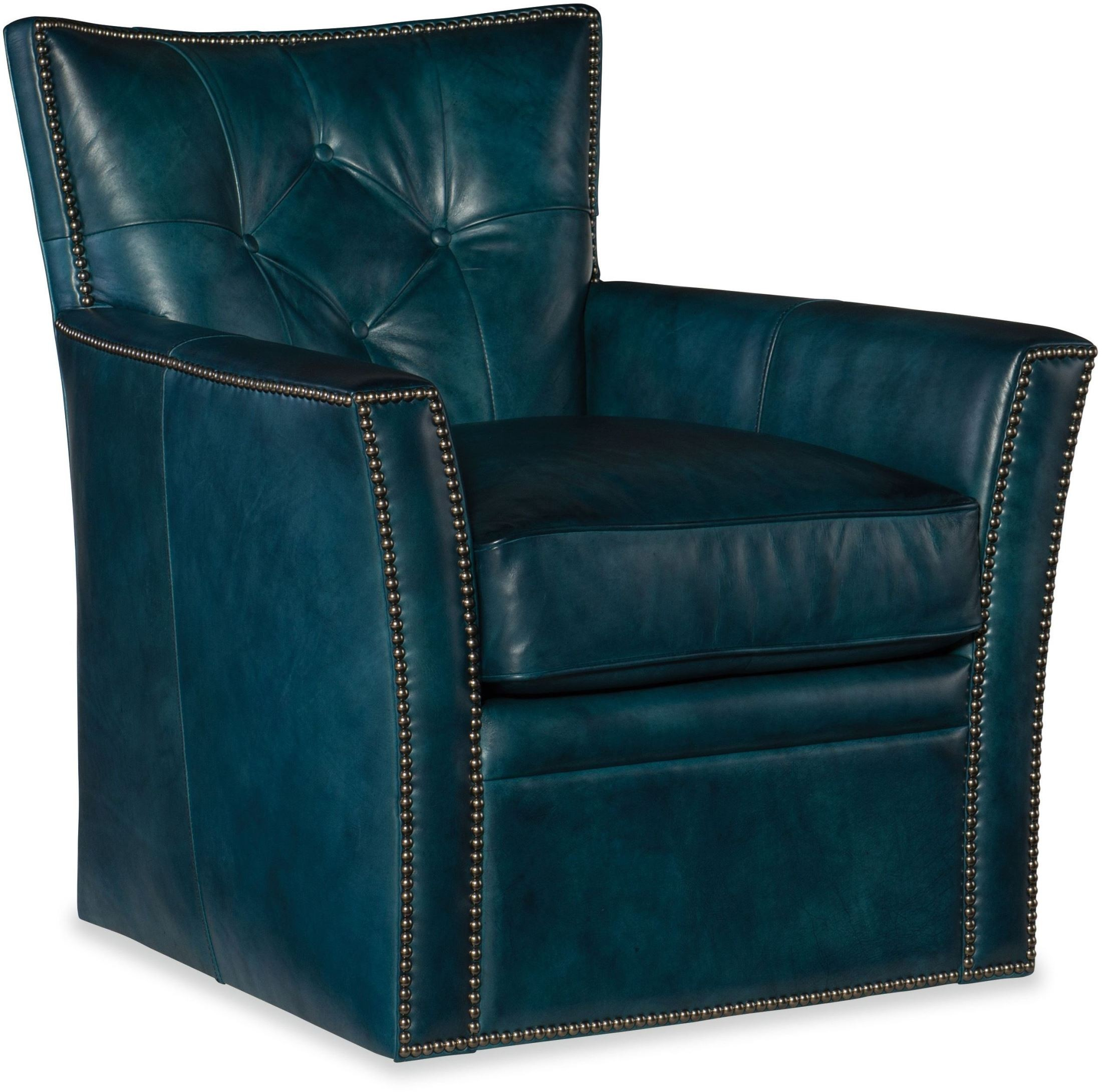 Conner Blue Swivel Club Chair From Hooker Coleman Furniture