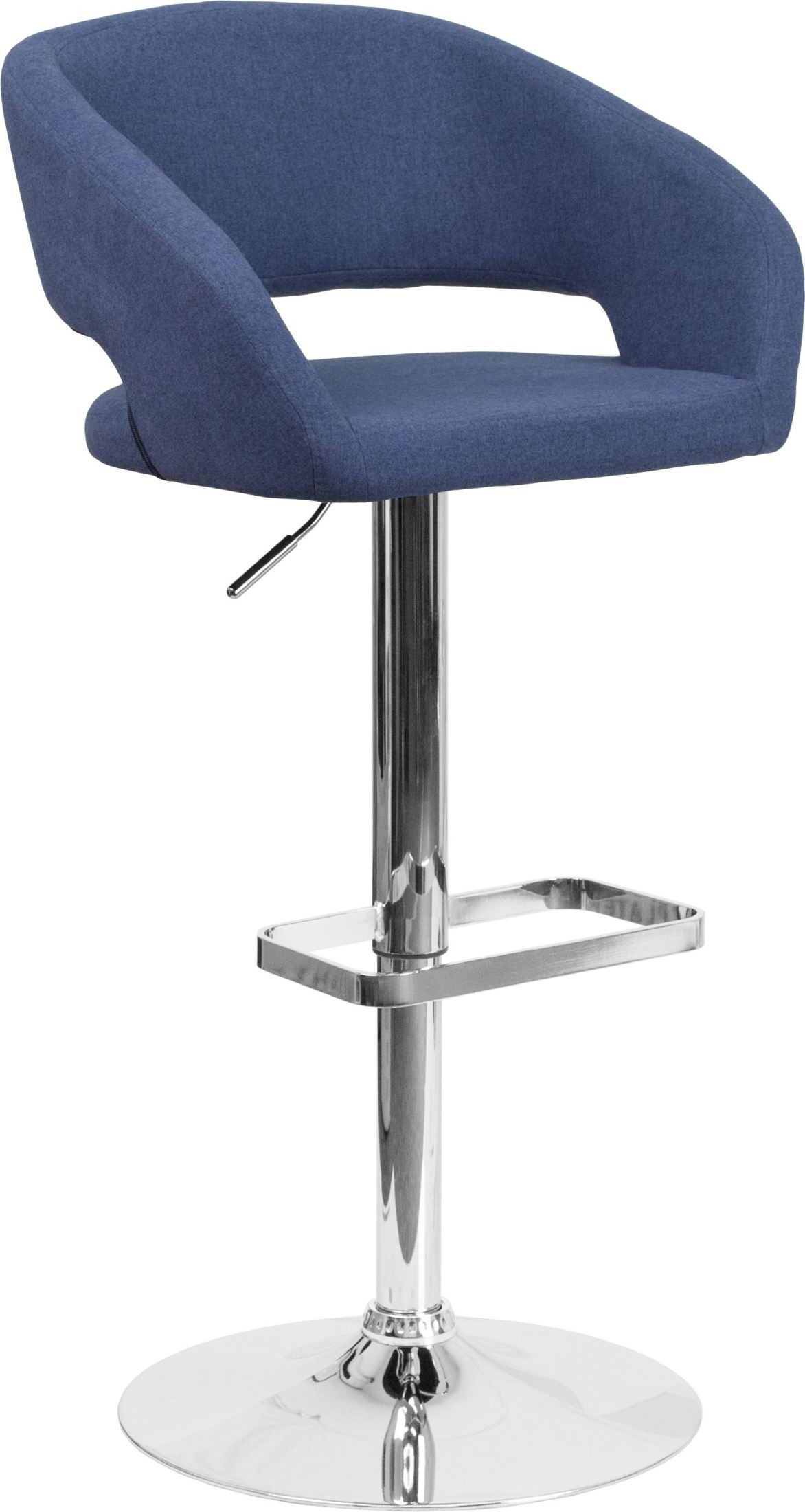 Rounded Blue Fabric Adjustable Height Bar Stool from  : ch 122070 blfab gg from colemanfurniture.com size 1172 x 2200 jpeg 215kB
