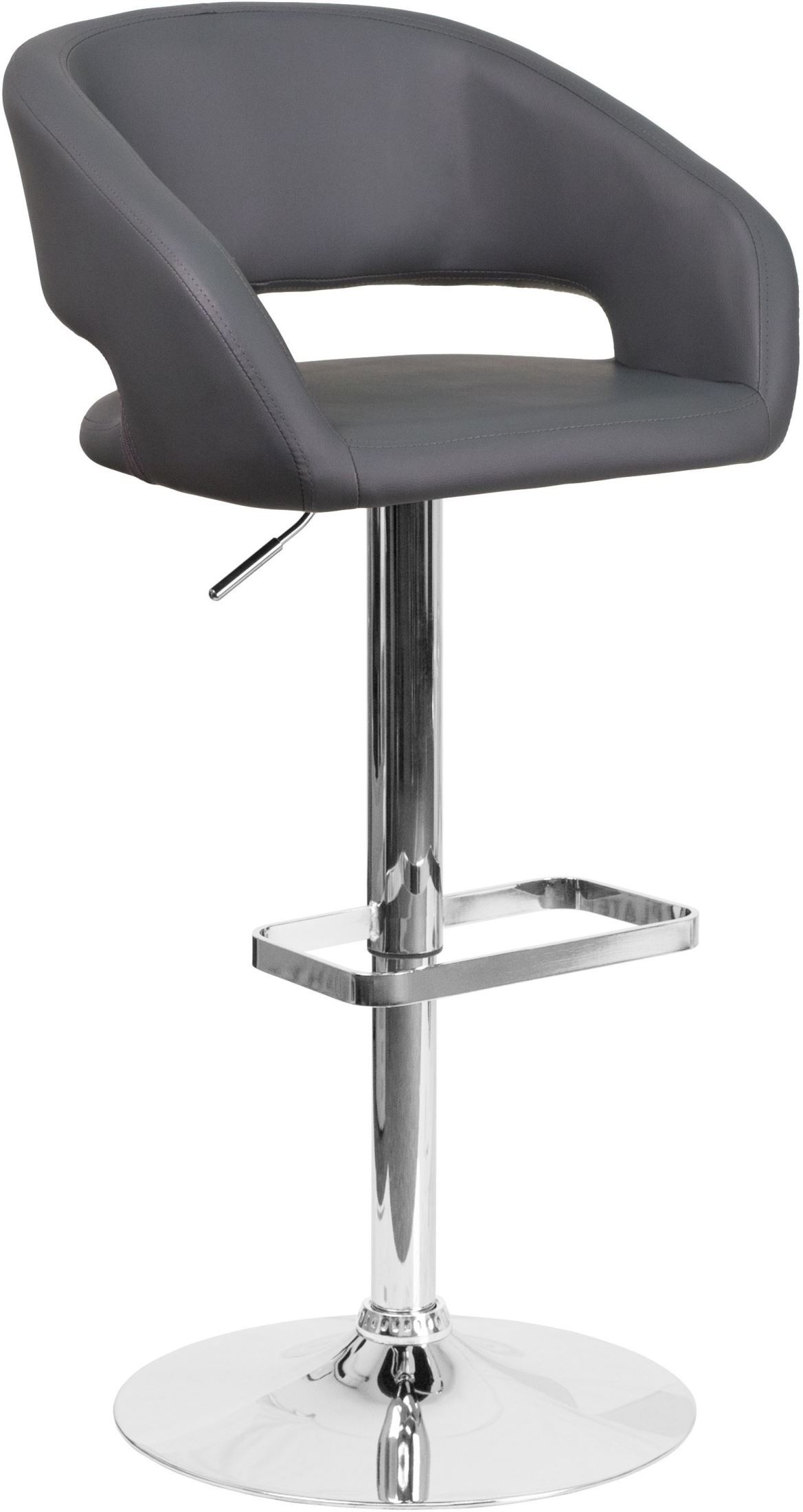 Rounded Gray Vinyl Adjustable Height Bar Stool Min Order  : ch 122070 gy gg from colemanfurniture.com size 1169 x 2200 jpeg 179kB