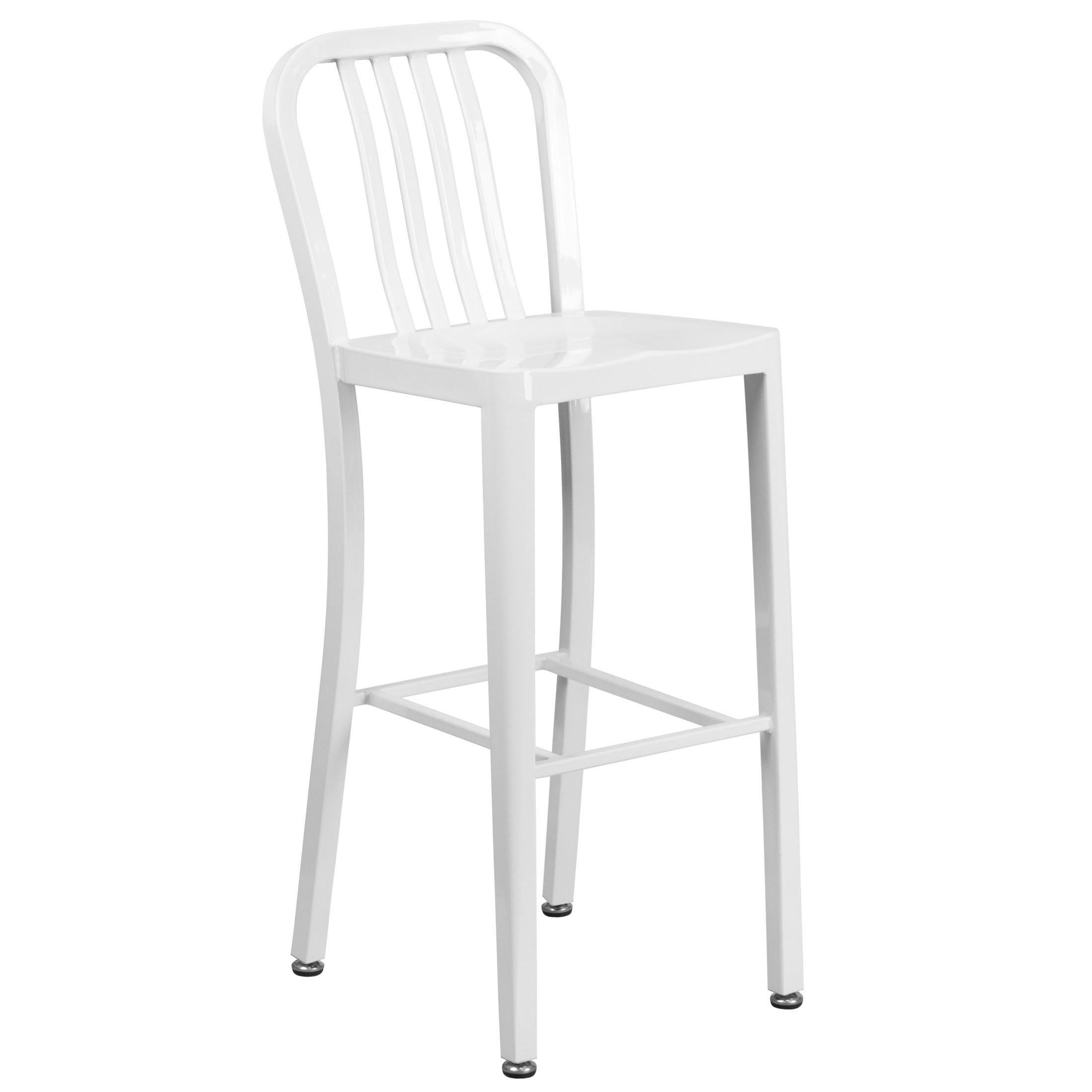 Modern Style 30inch High White Indoor Outdoor Bar Stool
