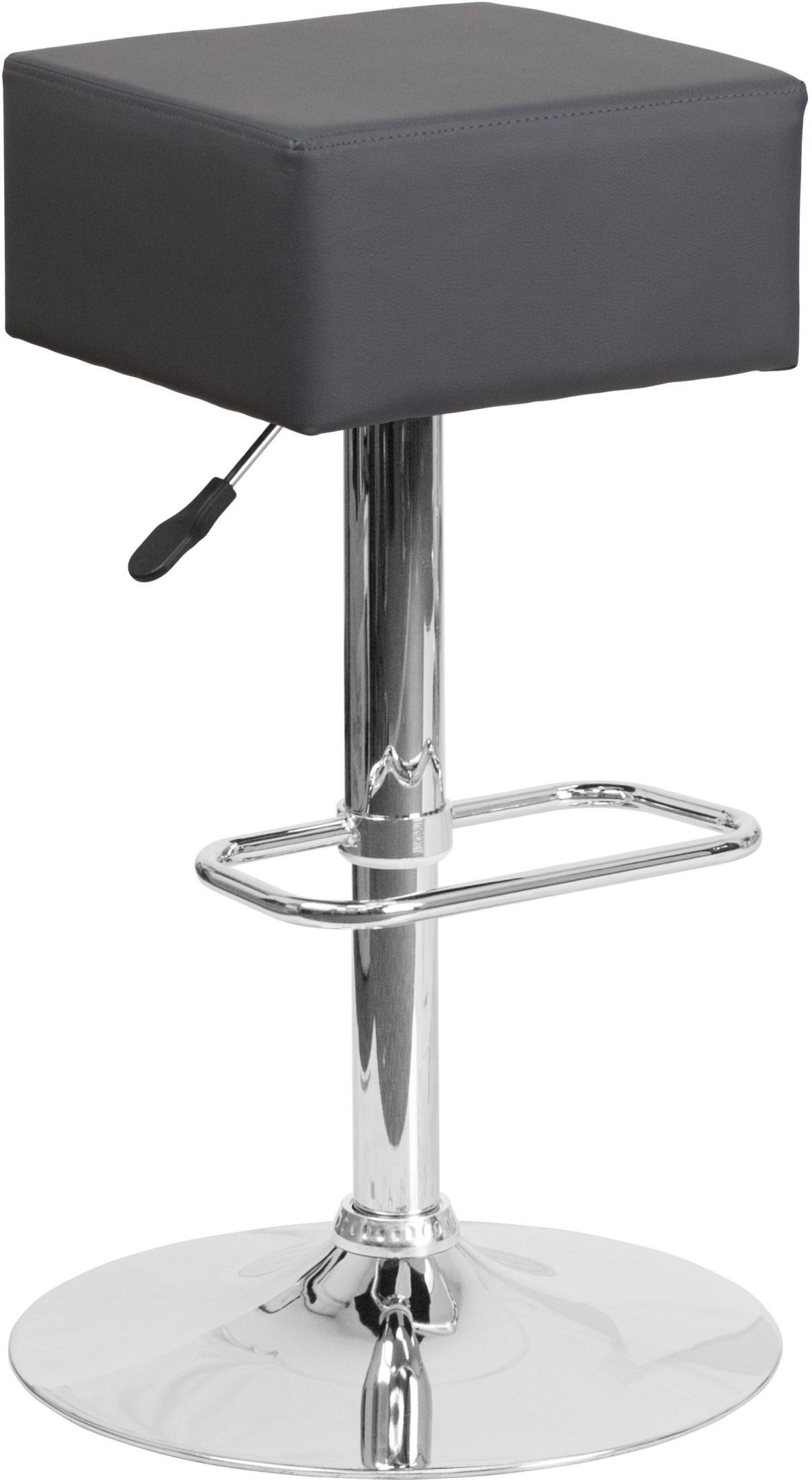 Backless Gray Vinyl Adjustable Height Bar Stool from  : ch 82058 4 gy gg from colemanfurniture.com size 1207 x 2200 jpeg 216kB