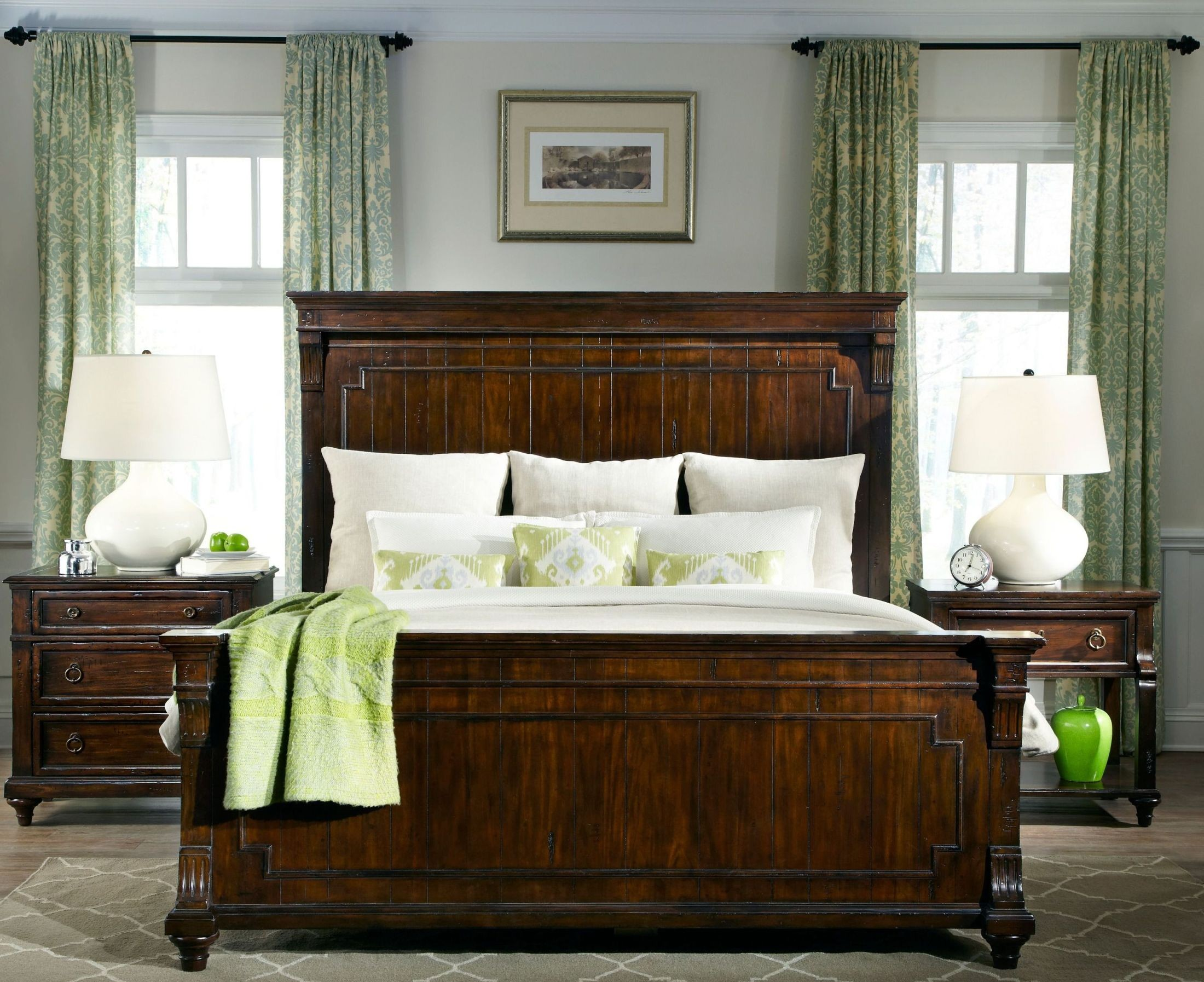 Charleston Place Brown Panel Bedroom Set From Hekman Furniture Coleman Furniture