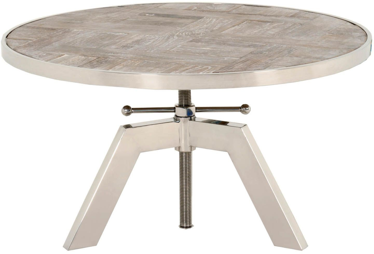 Charlie weathered round coffee table from orient express for Round weathered coffee table