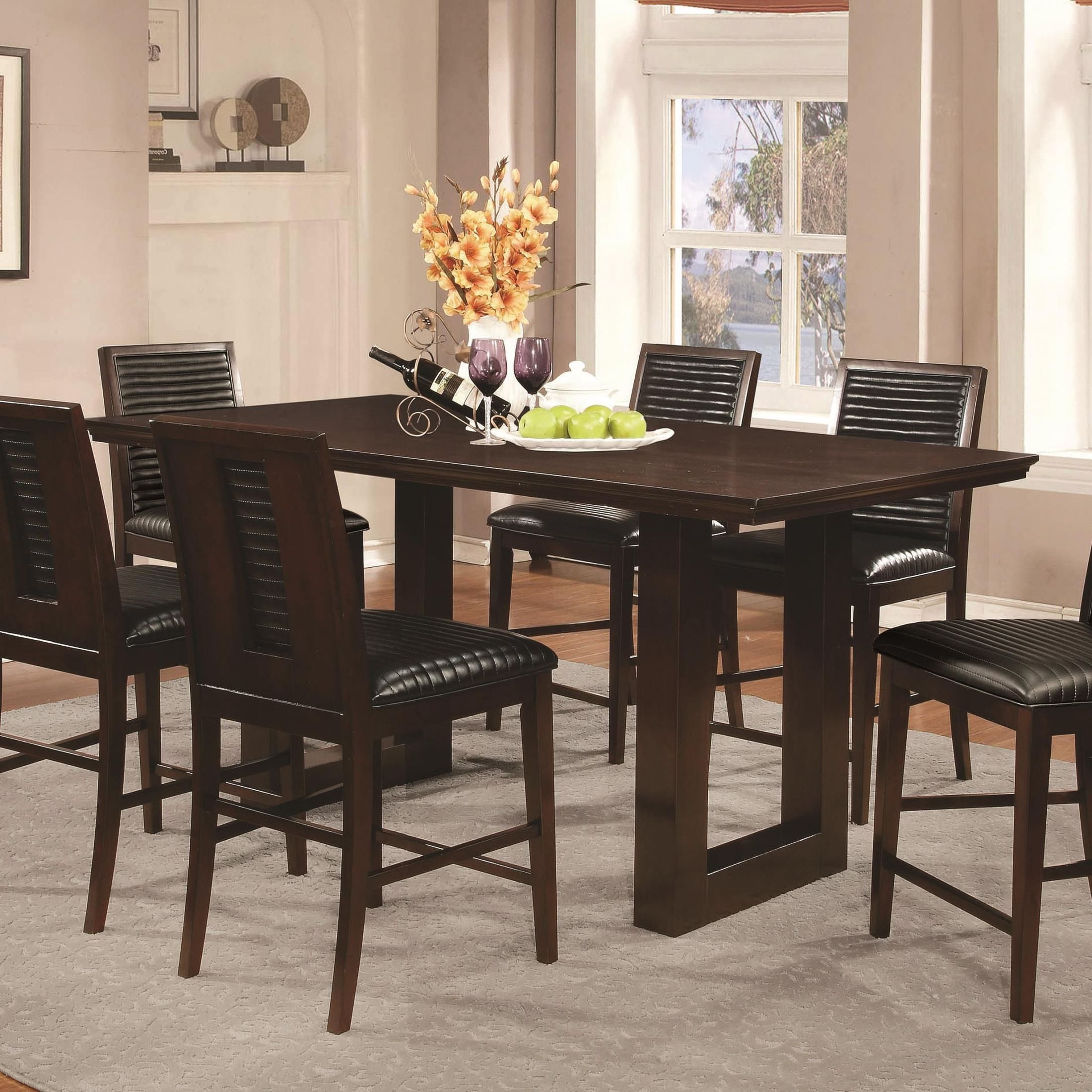 Counter Height Dining Tables: Chester Rectangular Pedestal Counter Height Table From