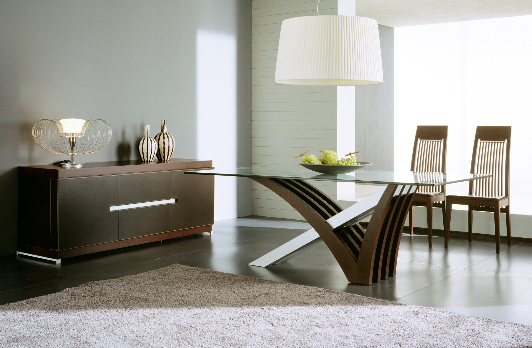 Mirage wenge dining room set from rossetto r993010000006 for Sofas grandes modernos