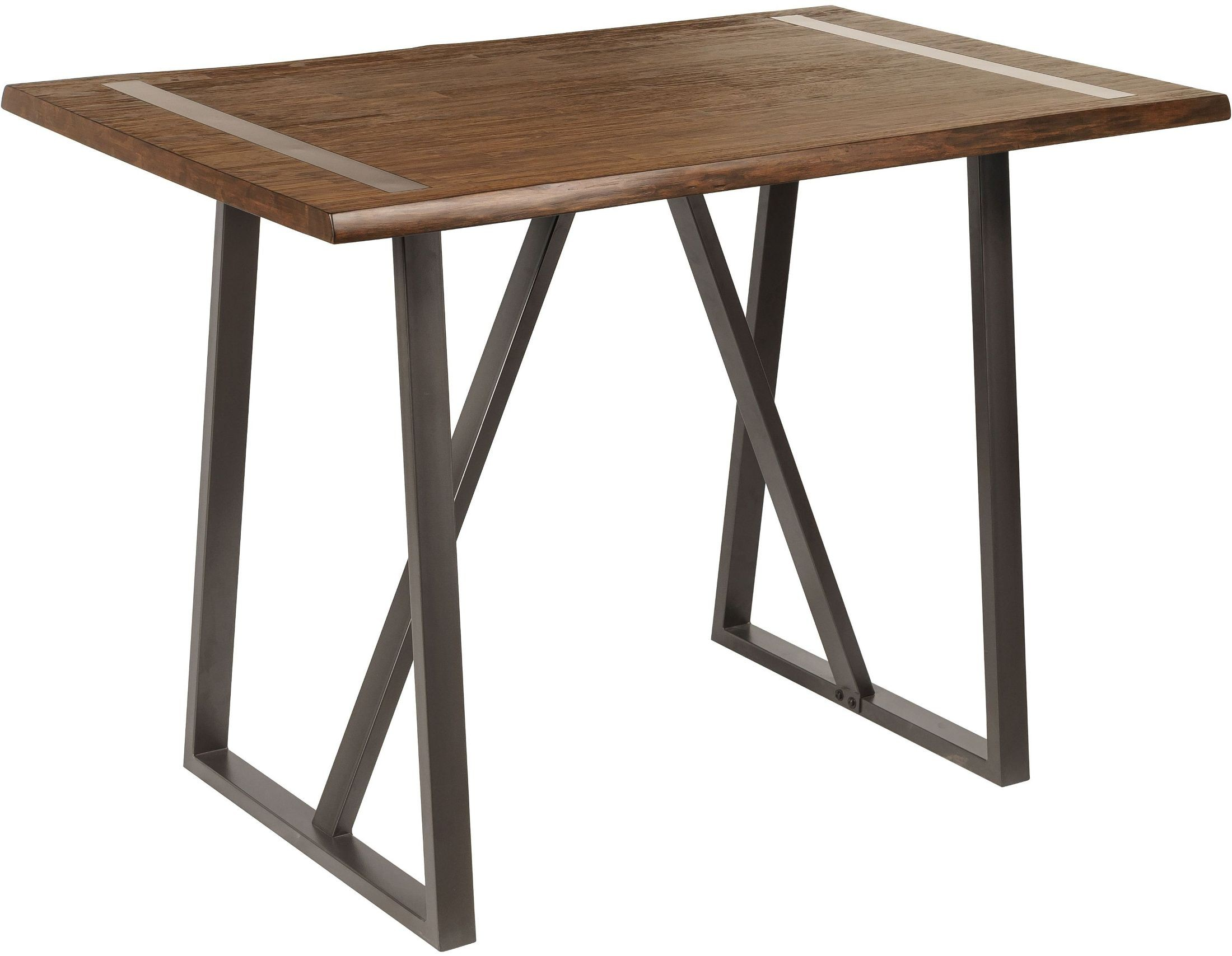 Industrial live edge bar height table from pulaski for Table bar 6 personnes