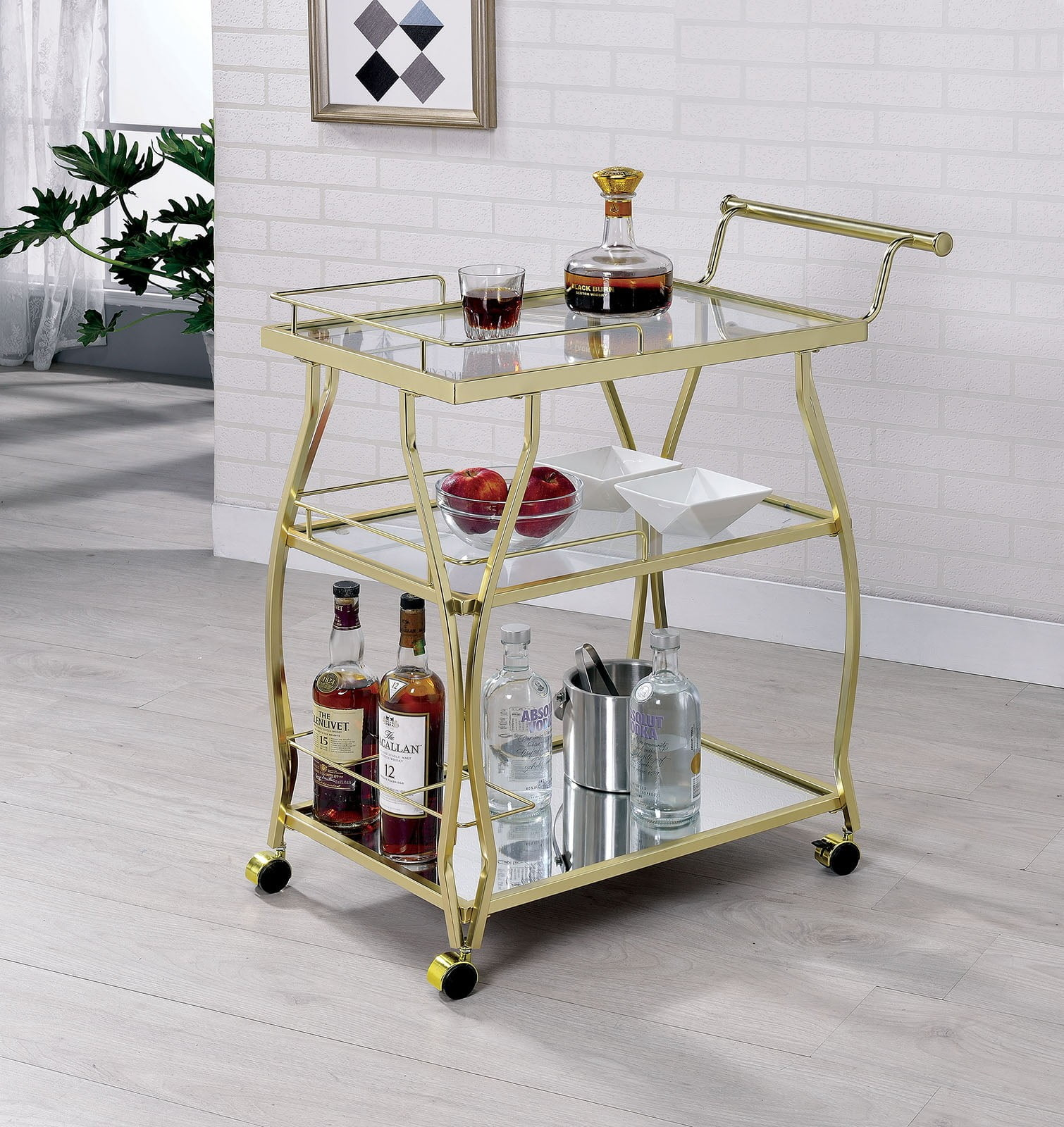 Cedar Park Champagne Serving Cart From Furniture Of