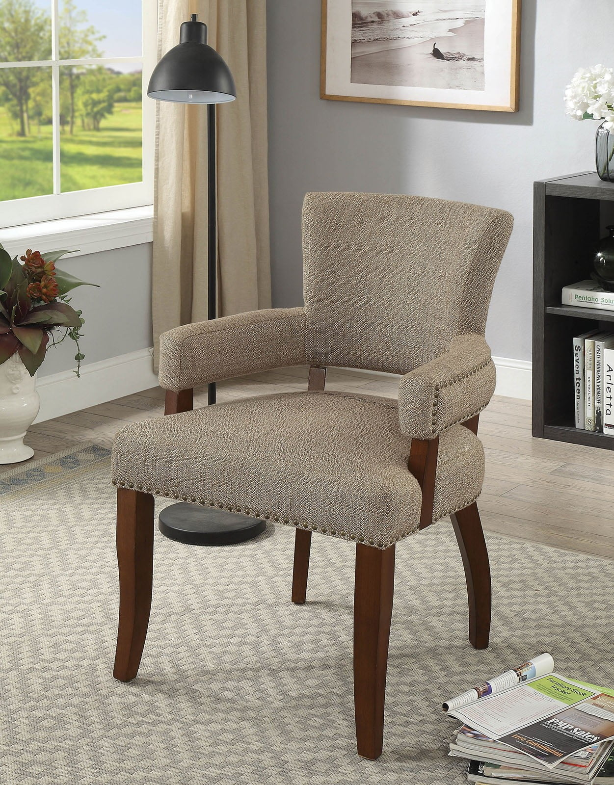 Valladolid Light Brown Bar Chair From Furniture Of America  # Muebles Low Cost Valladolid