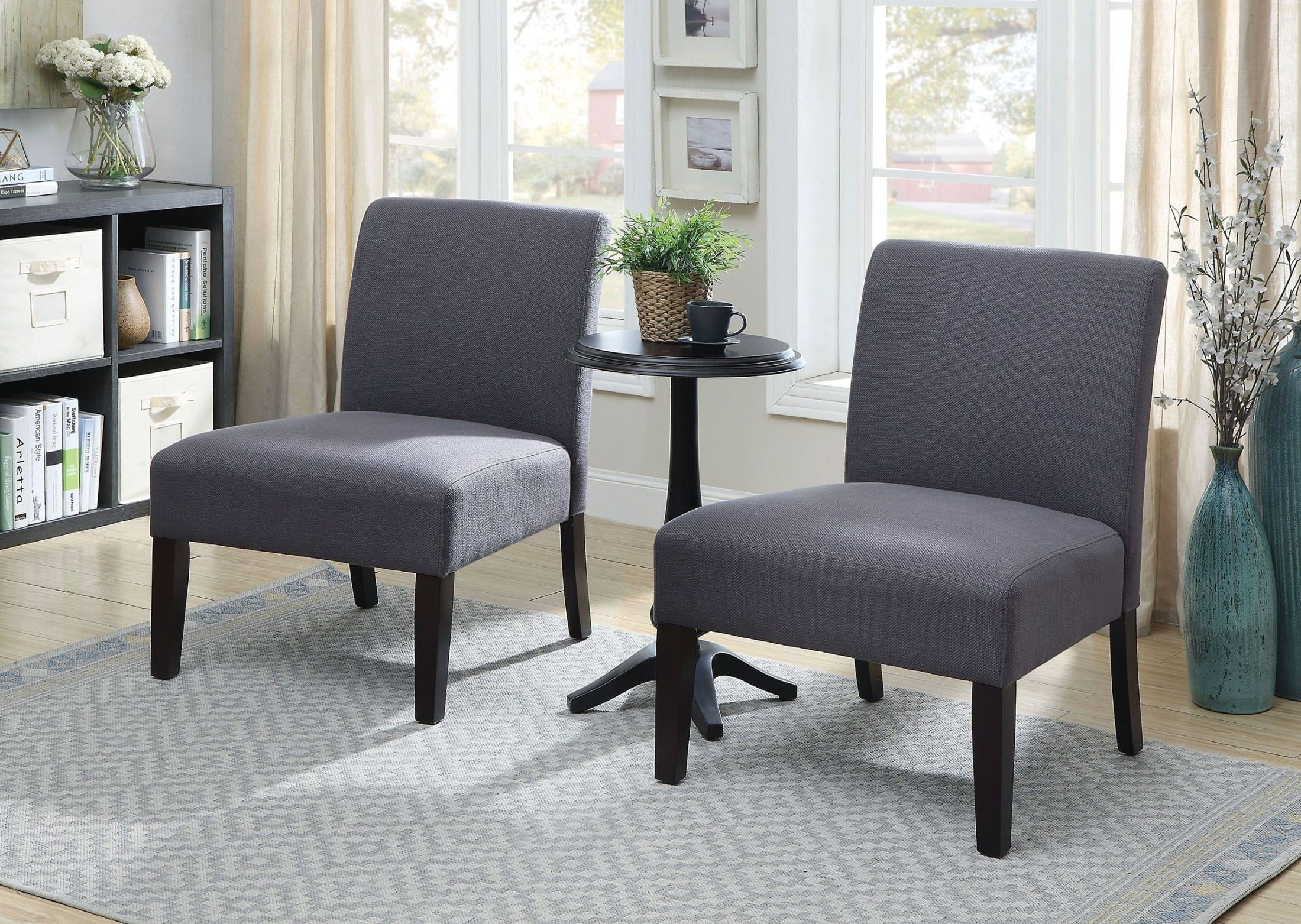 Sudbury Gray Accent Table Chair Set & Sudbury Gray Accent Table u0026 Chair Set from Furniture of America ...