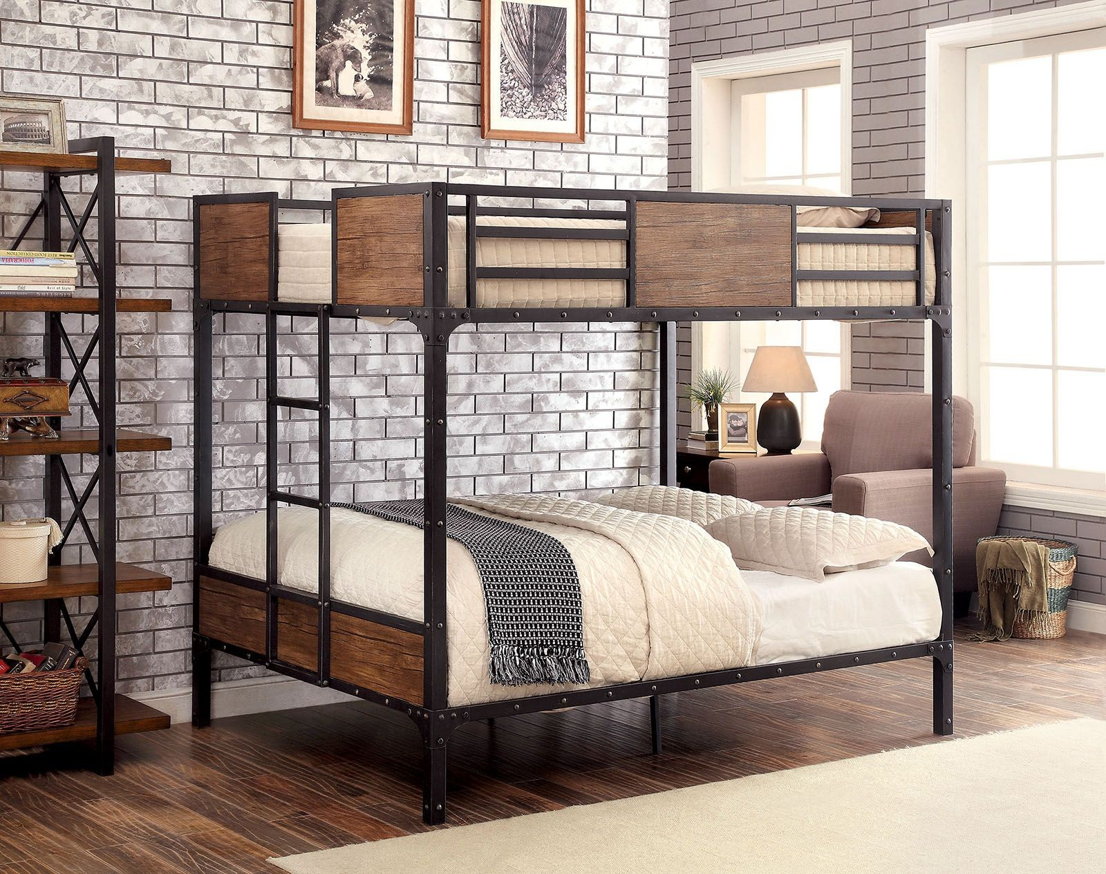 Clapton Full Over Full Metal Bunk Bed From Furniture Of America | Coleman  Furniture