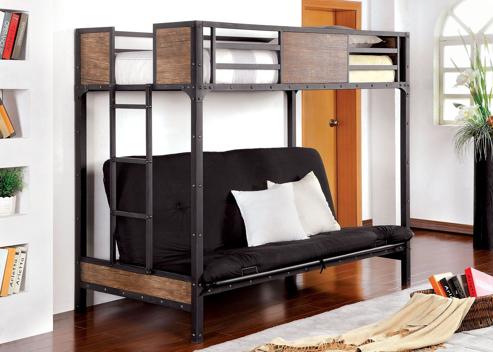 Clapton Twin Bed With Futon Base From Furniture Of America