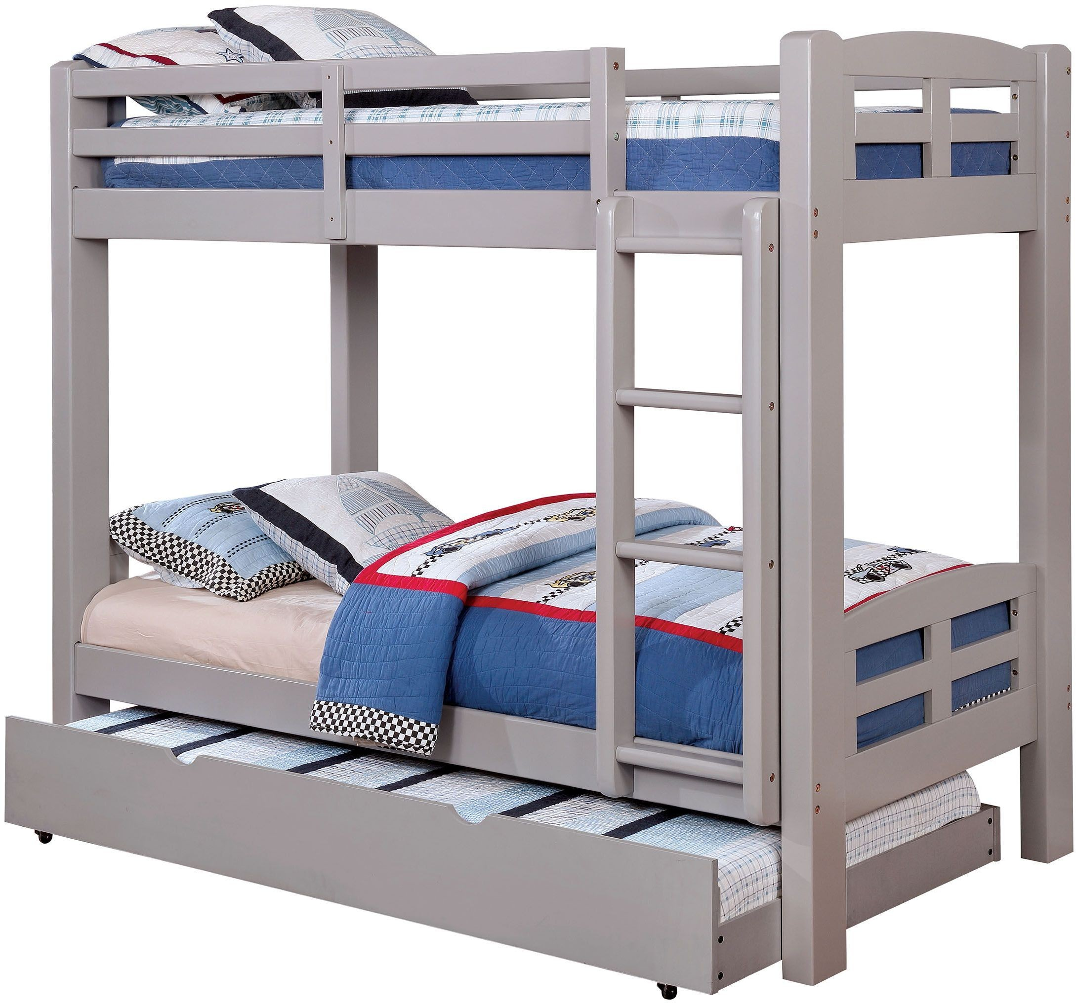 Solpine Gray Twin Over Twin Bunk Bed From Furniture Of