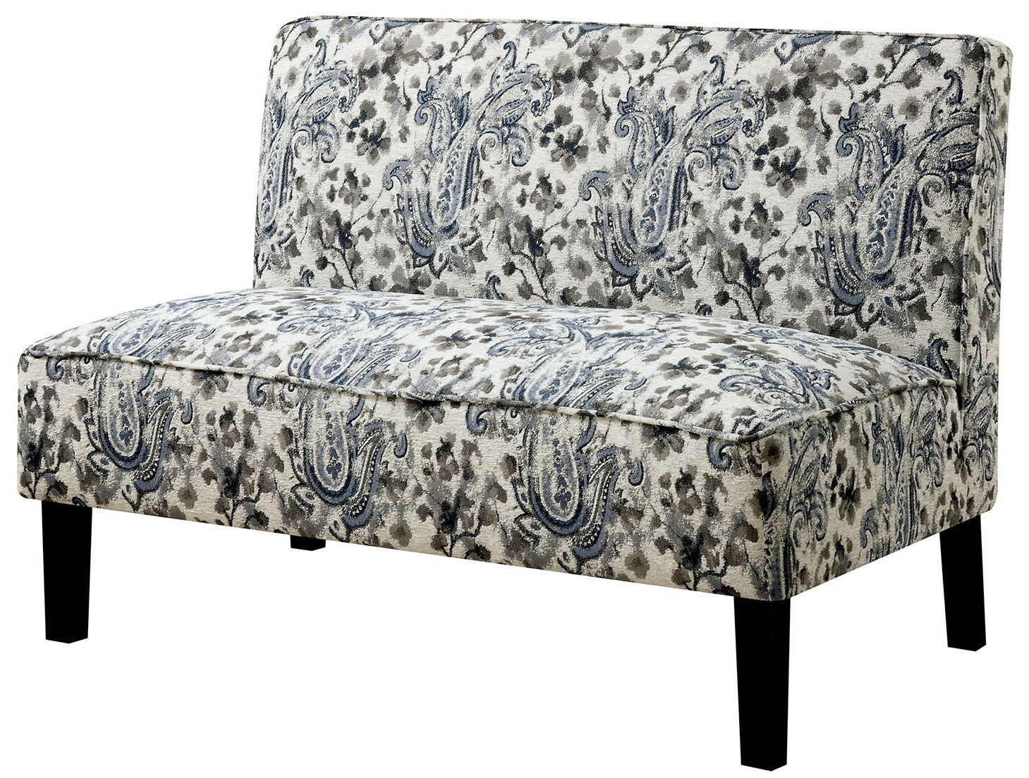 Kassie Floral Fabric Bench From Furniture Of America Coleman Furniture