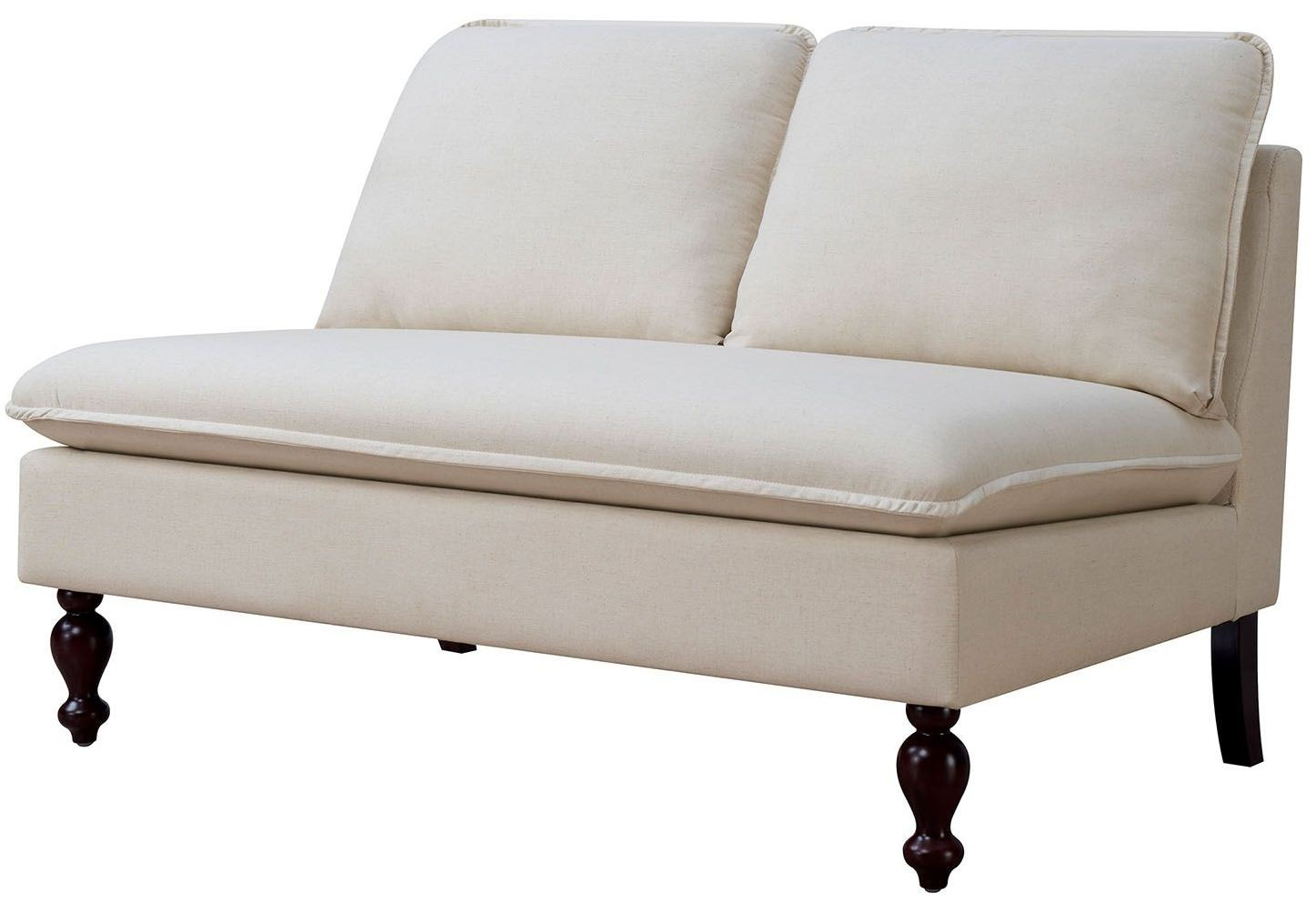 Kenzie Ivory Loveseat Bench From Furniture Of America Coleman Furniture