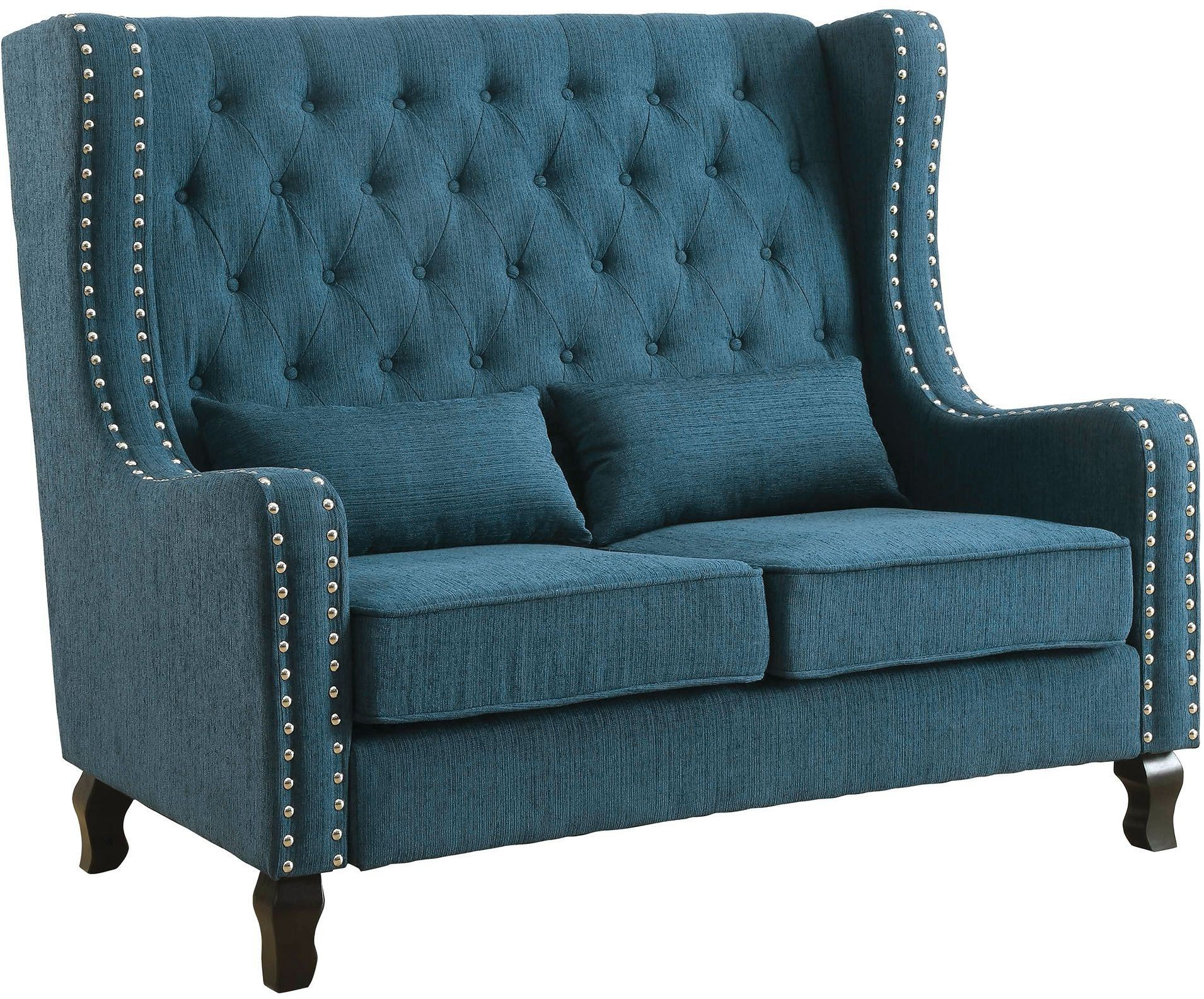 Alicante Dark Teal Loveseat Bench From Furniture Of