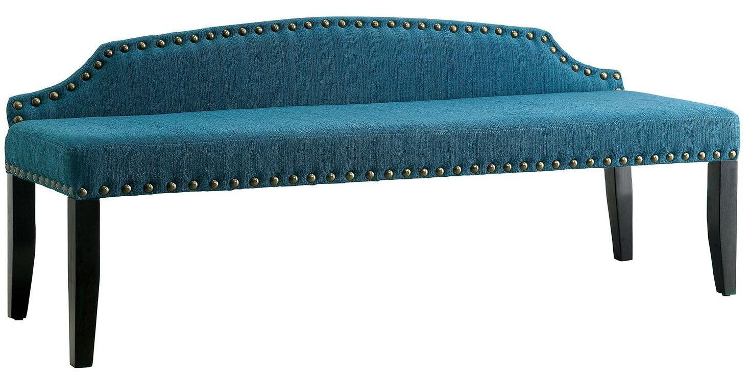 Hasselt Dark Teal Large Bench From Furniture Of America