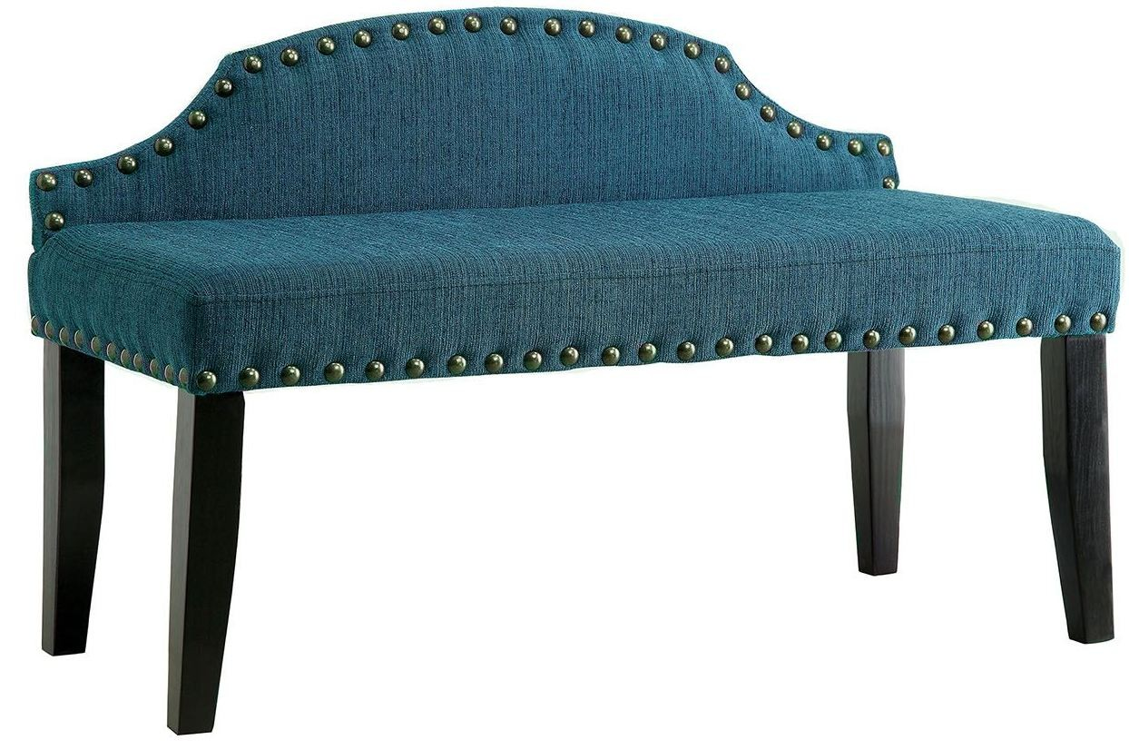 Hasselt Dark Teal Small Bench From Furniture Of America