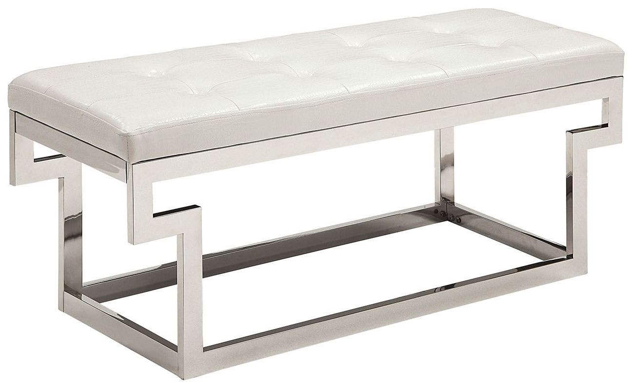 Enya White Small Bench From Furniture Of America Coleman Furniture