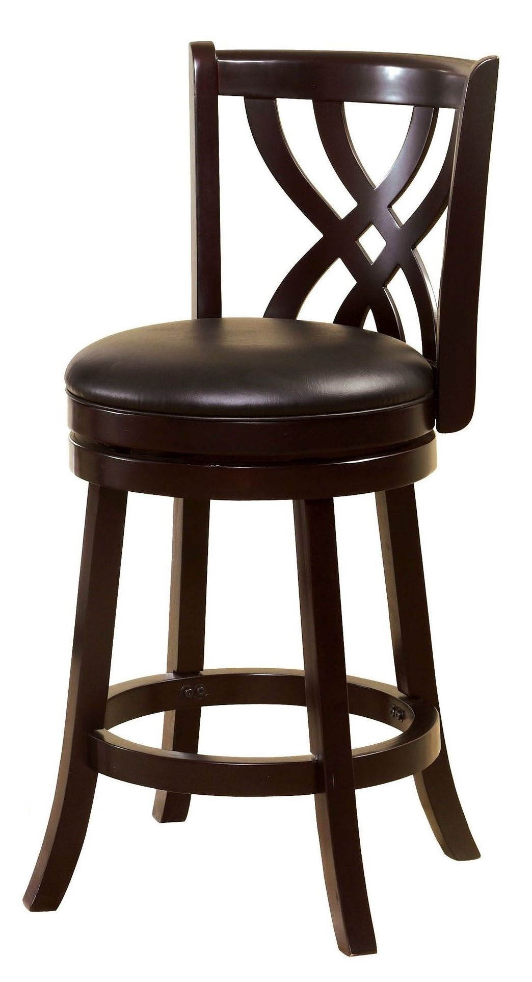 Wendel 24 Quot Espresso Swivel Bar Stool From Furniture Of