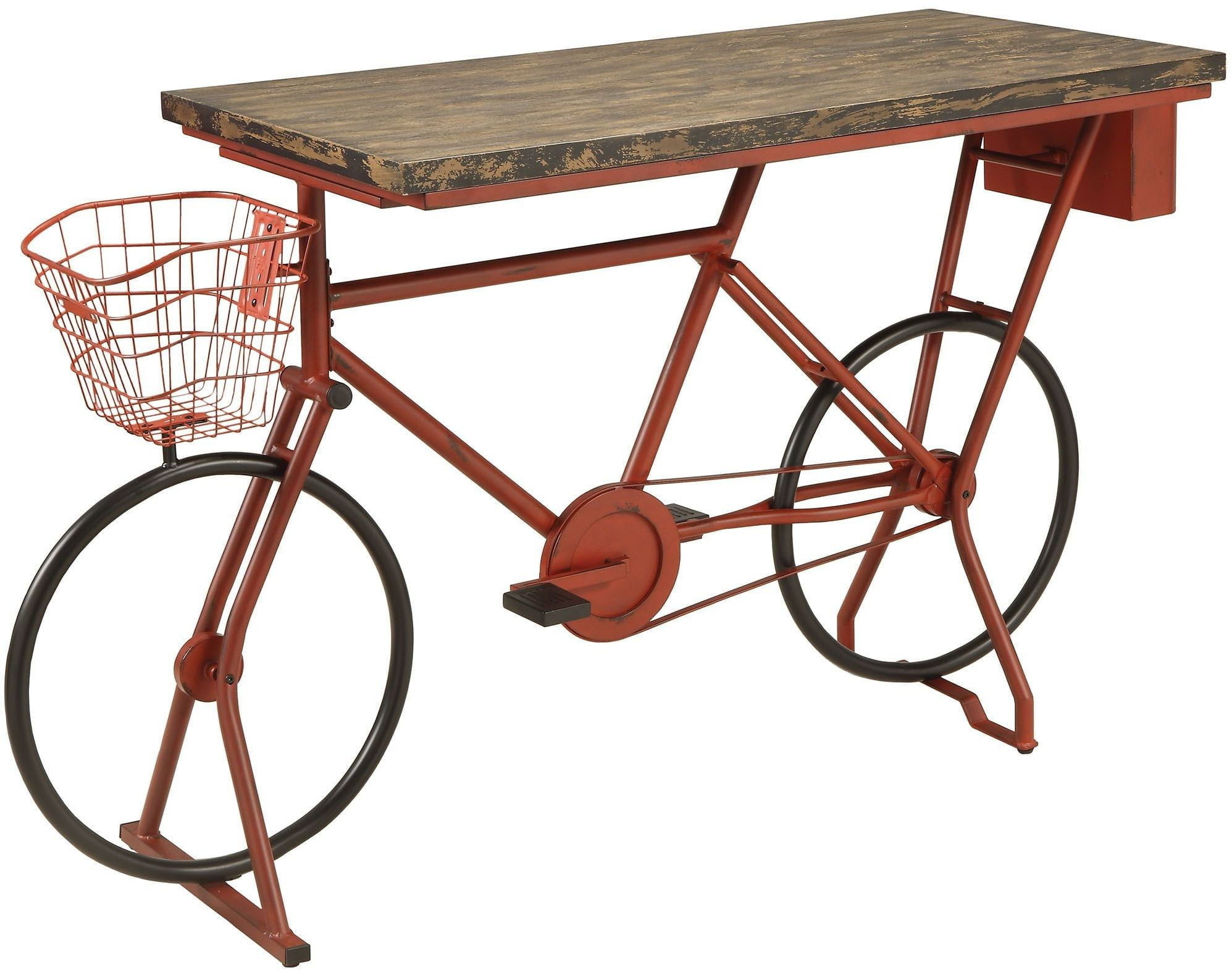 Rockmetteller Red And Black Bar Table From Furniture Of America  # Muebles Luan Arbo