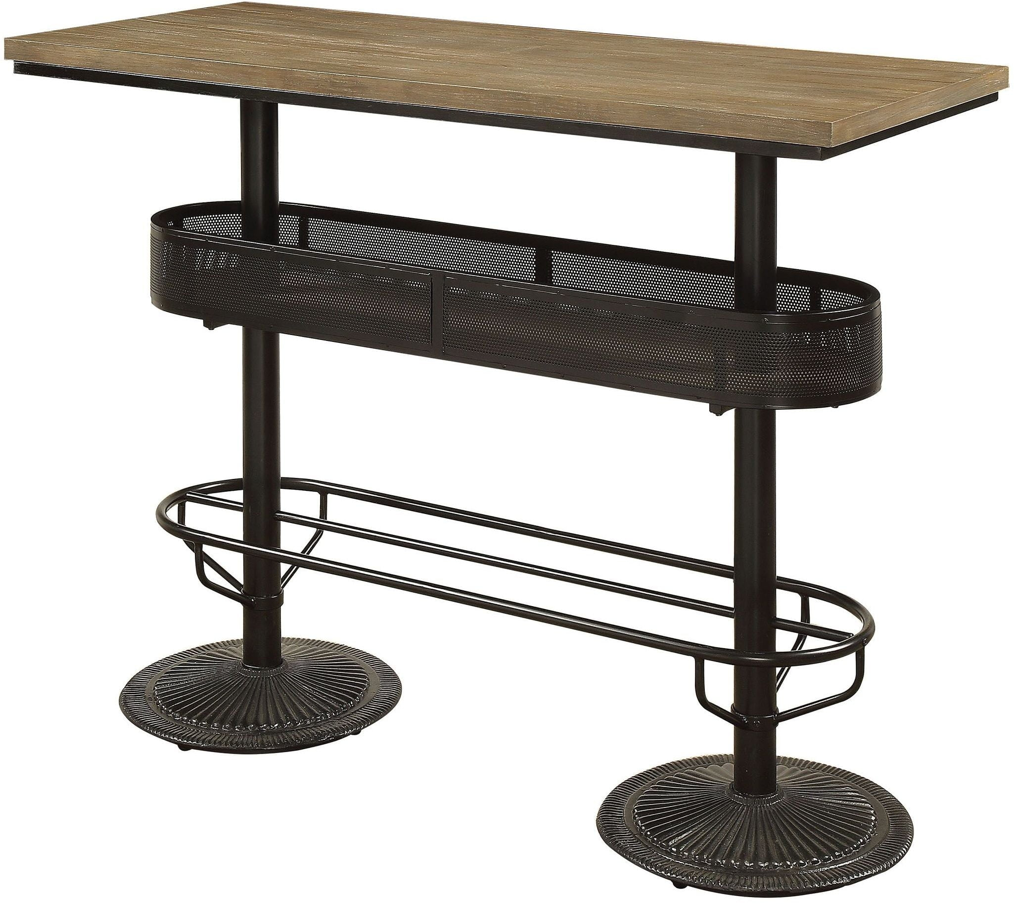 Denehan Black Silver Bar Table From Furniture Of America Coleman  # Muebles Luan Arbo