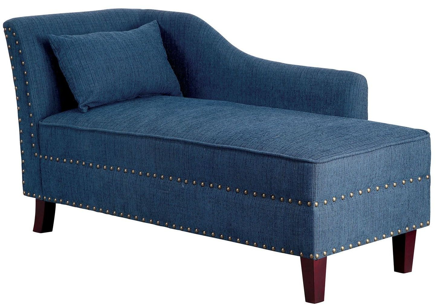 Stillwater dark teal fabric chaise from furniture of for Chaise 64 cm
