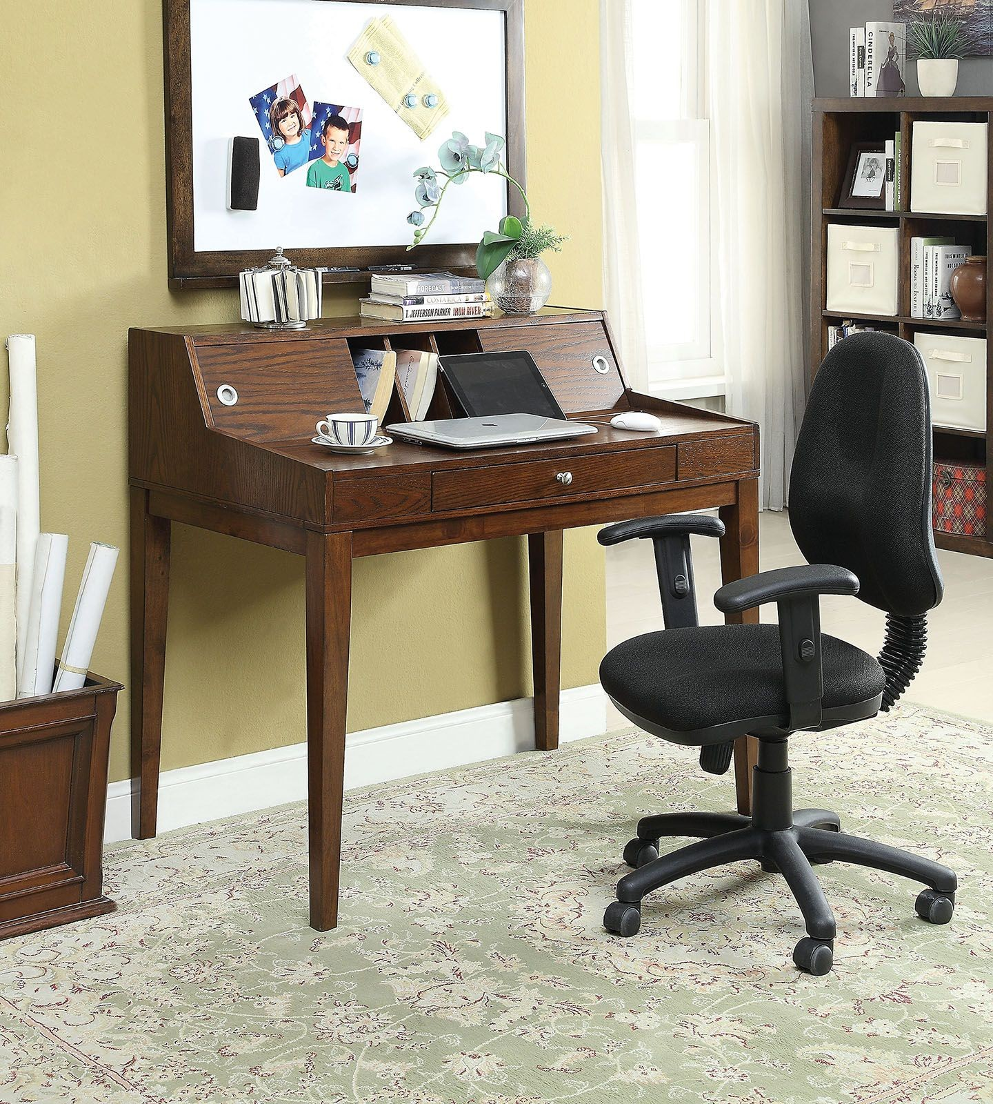 Veda Cherry Writing Home Office Set From Furniture Of