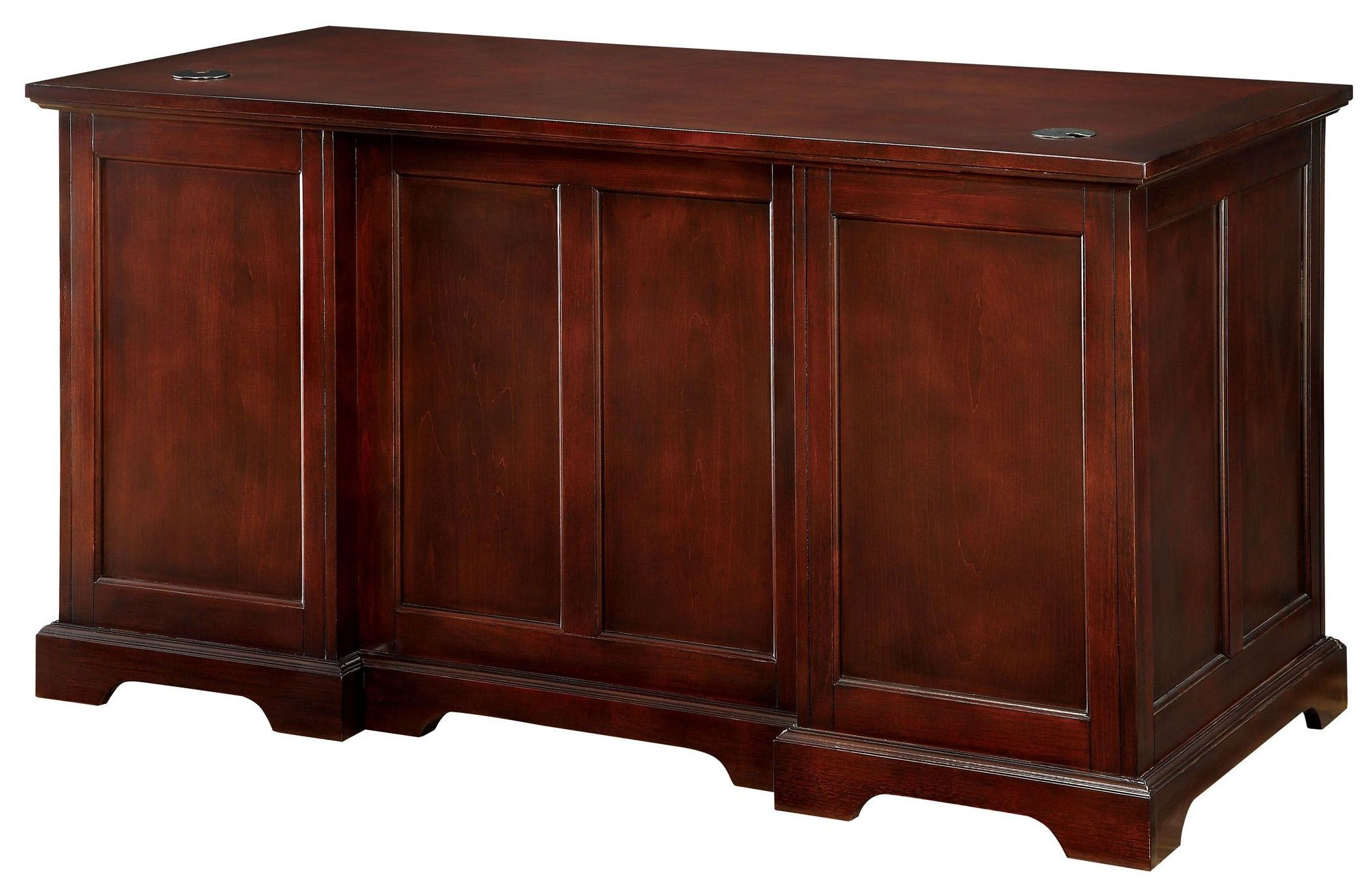 Desmont Cherry Office Desk From Furniture Of America Cm