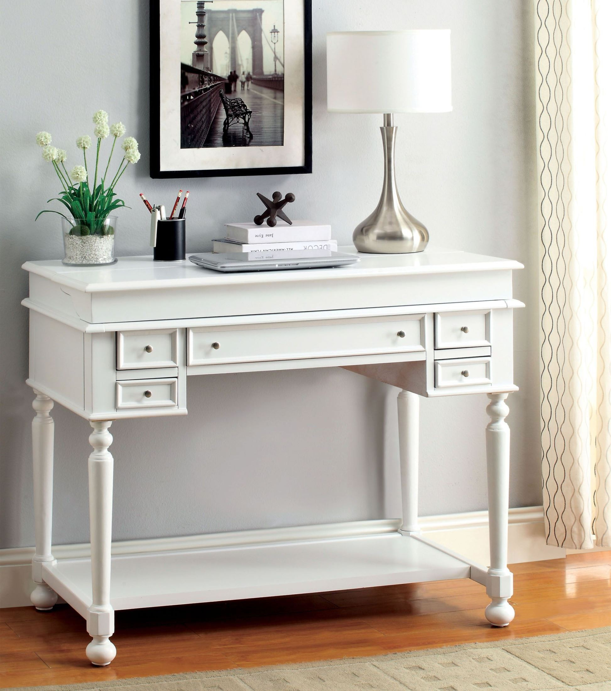 shipping handmade product antique overstock free furniture home korea drop style desk leaf korean secretary garden today
