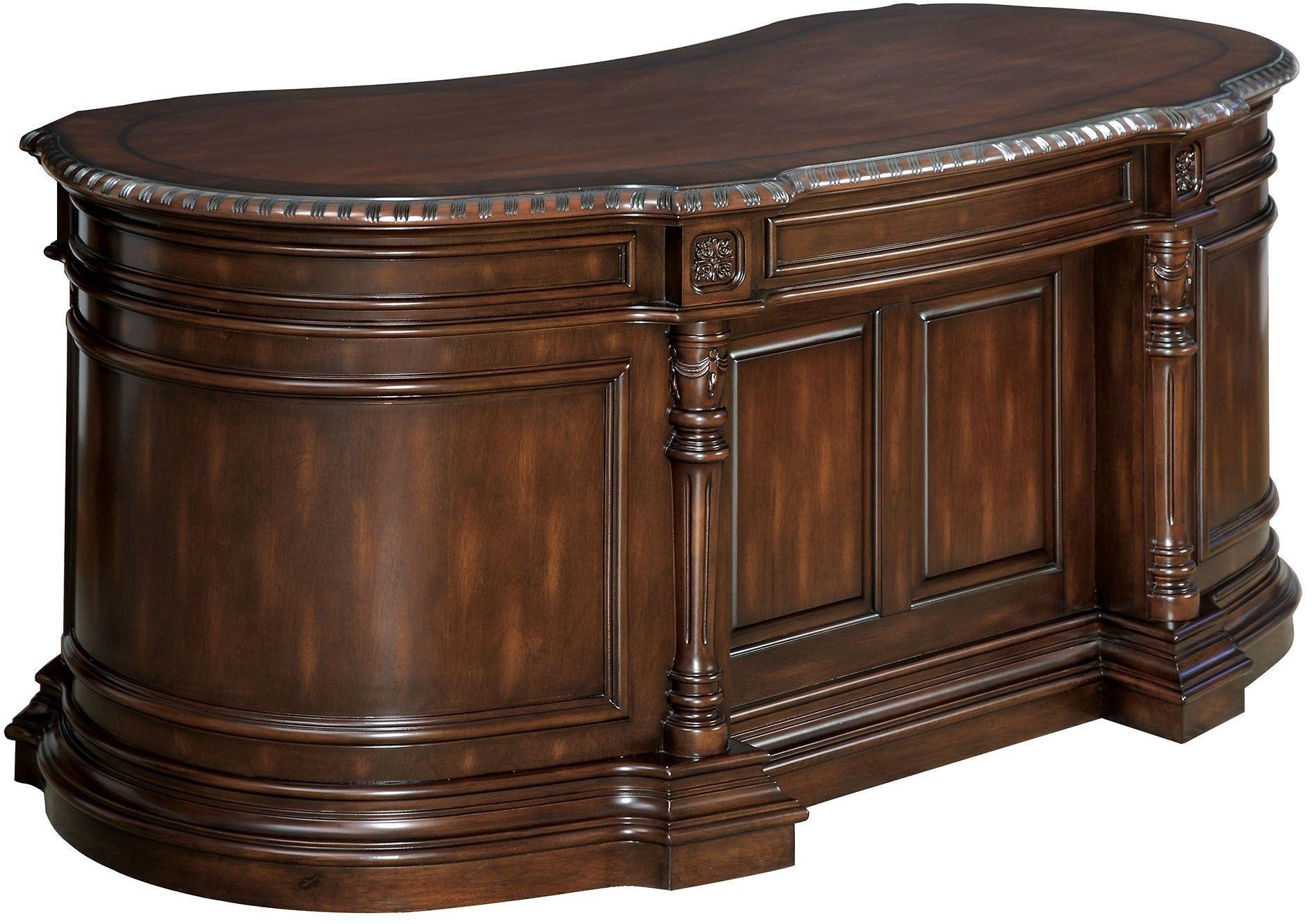 Strandburg Cherry Oval Office Desk from Furniture of ...