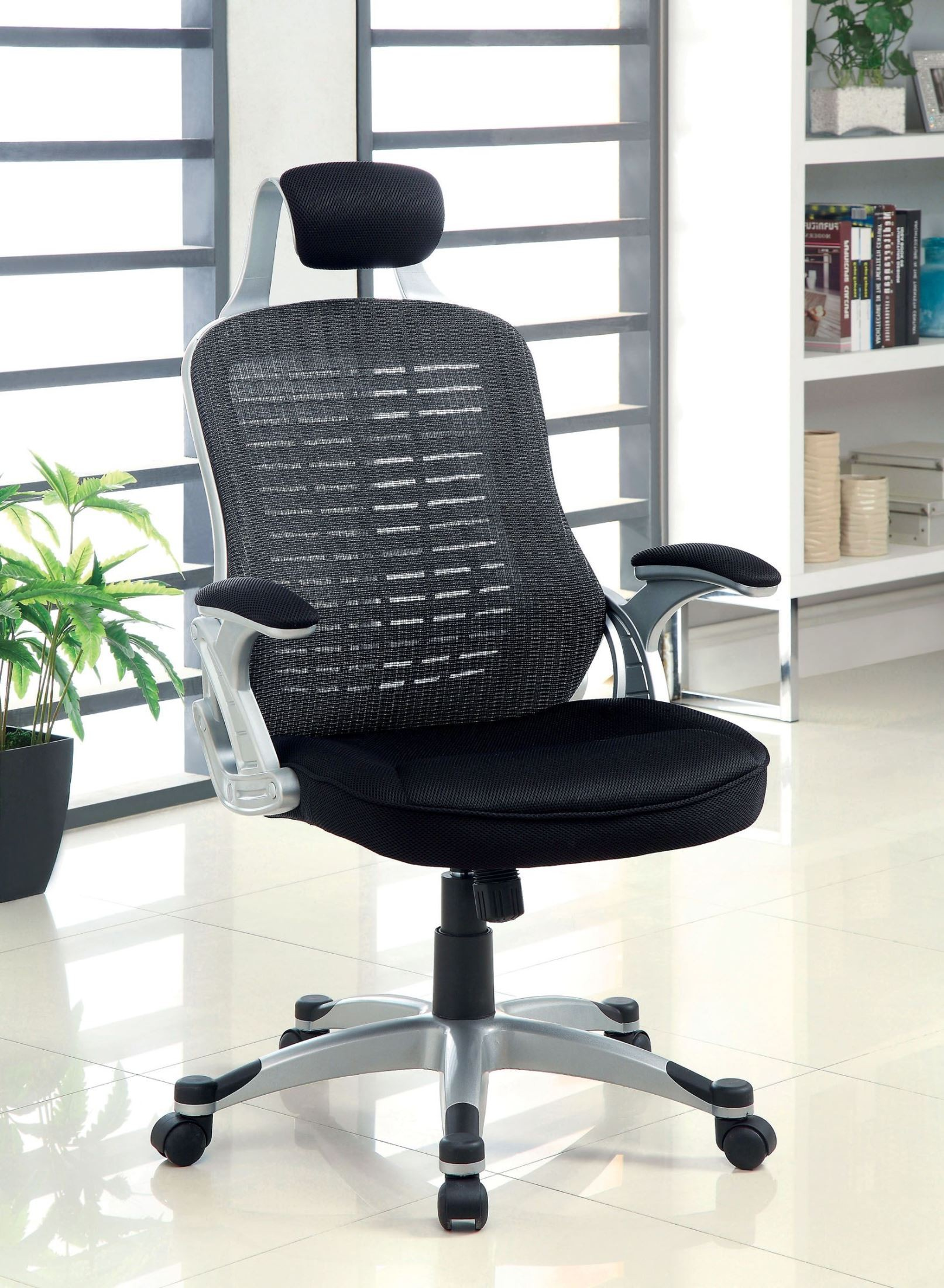 Cesta black adjustable height office chair from furniture for Furniture of america customer service