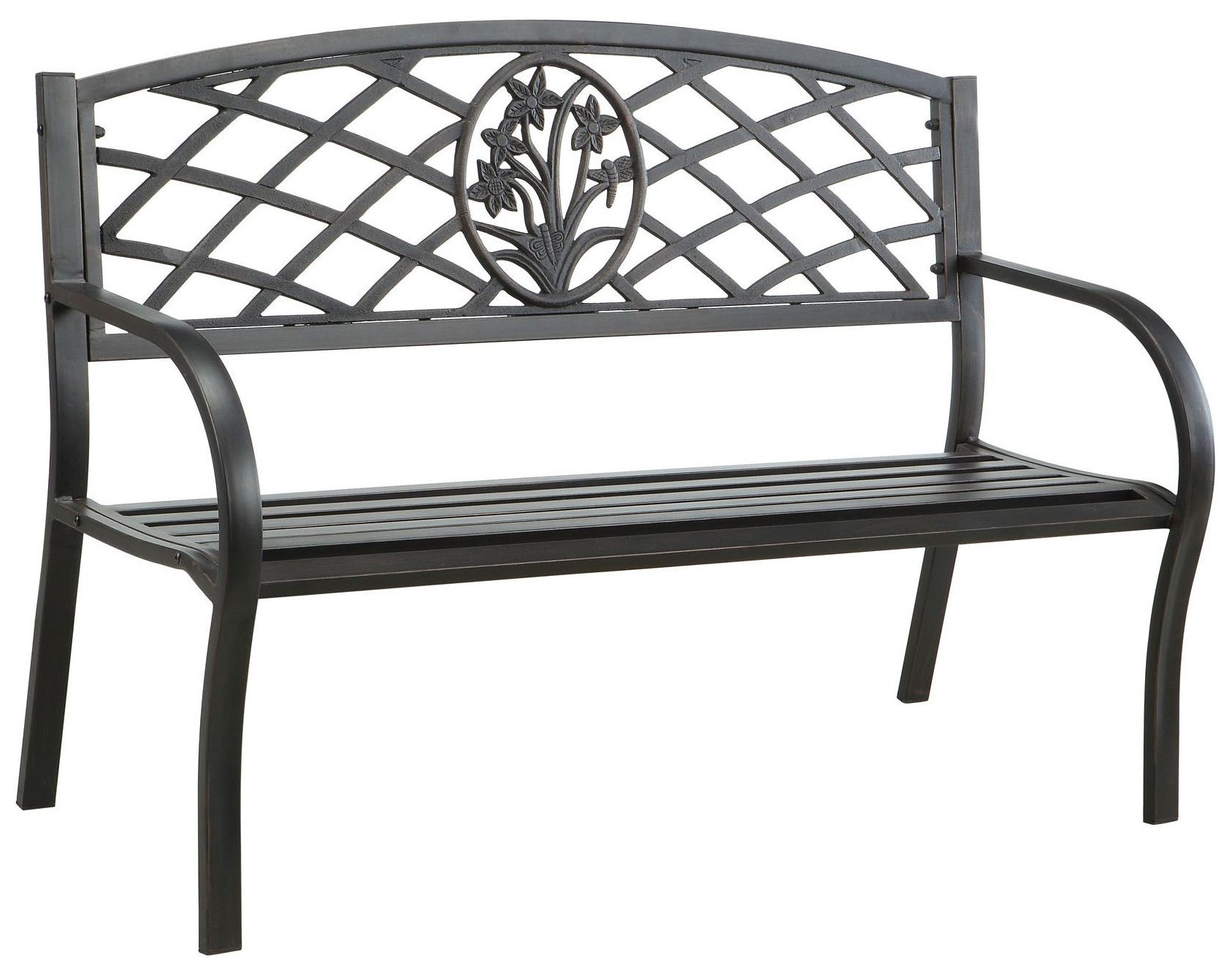 Minot Steel Park Bench From Furniture Of America Cm Ob1809 Coleman Furniture