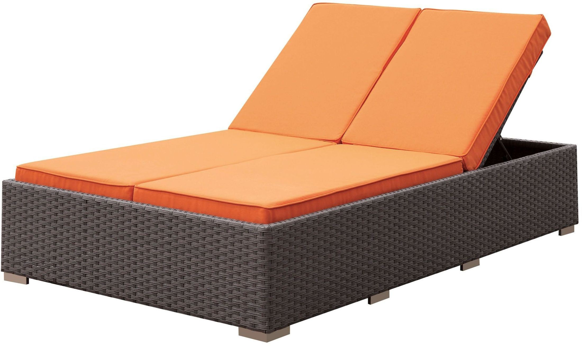Dixie brown patio chaise from furniture of america for Chaise 64 cm