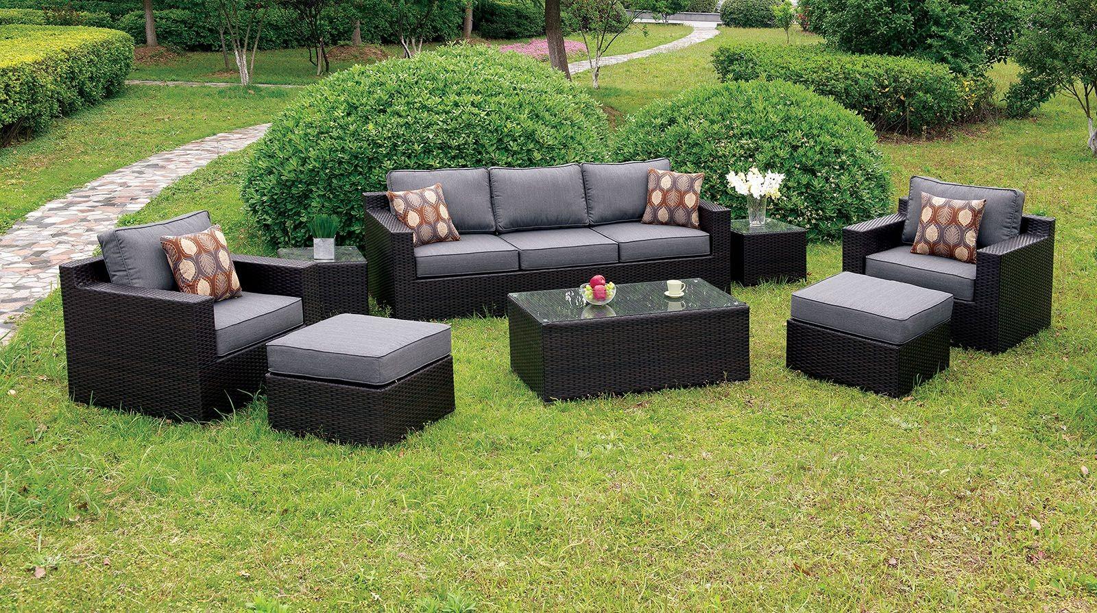 Helina Gray 8 Piece Patio Sofa Set, CM-OS1827GY, Furniture
