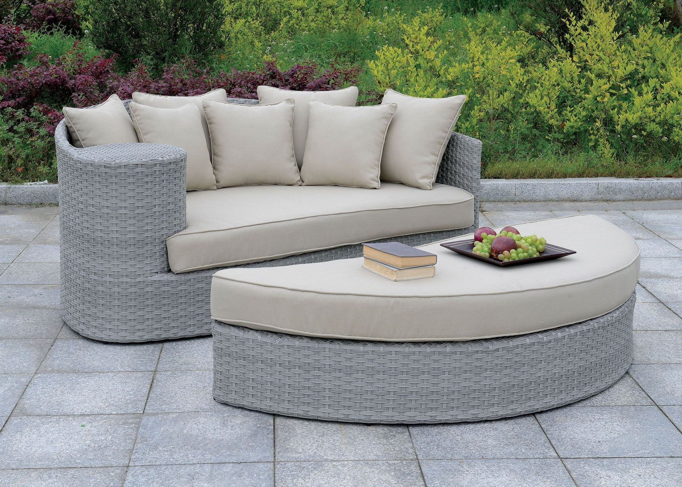 Calio Gray Patio Sofa And Ottoman From Furniture Of America | Coleman  Furniture