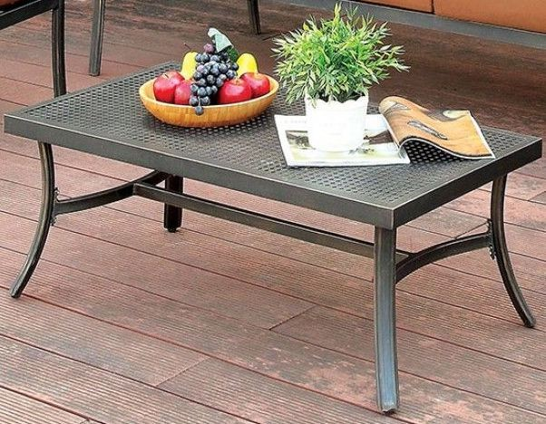 Bonquesha I Distressed Black Coffee Table From Furniture Of America Coleman Furniture