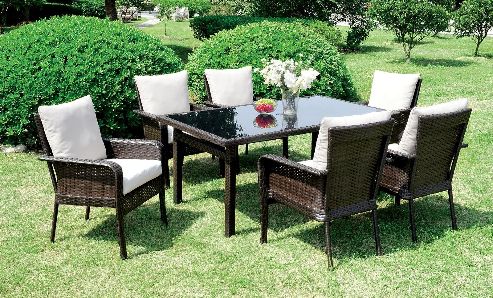 Shakira Espresso Patio Dining Room Set From Furniture Of America Coleman Furniture